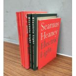 HEANEY SEAMUS. Electric Light. Three 1st eds. in red d.w's, each signed by Heaney; also 3 other