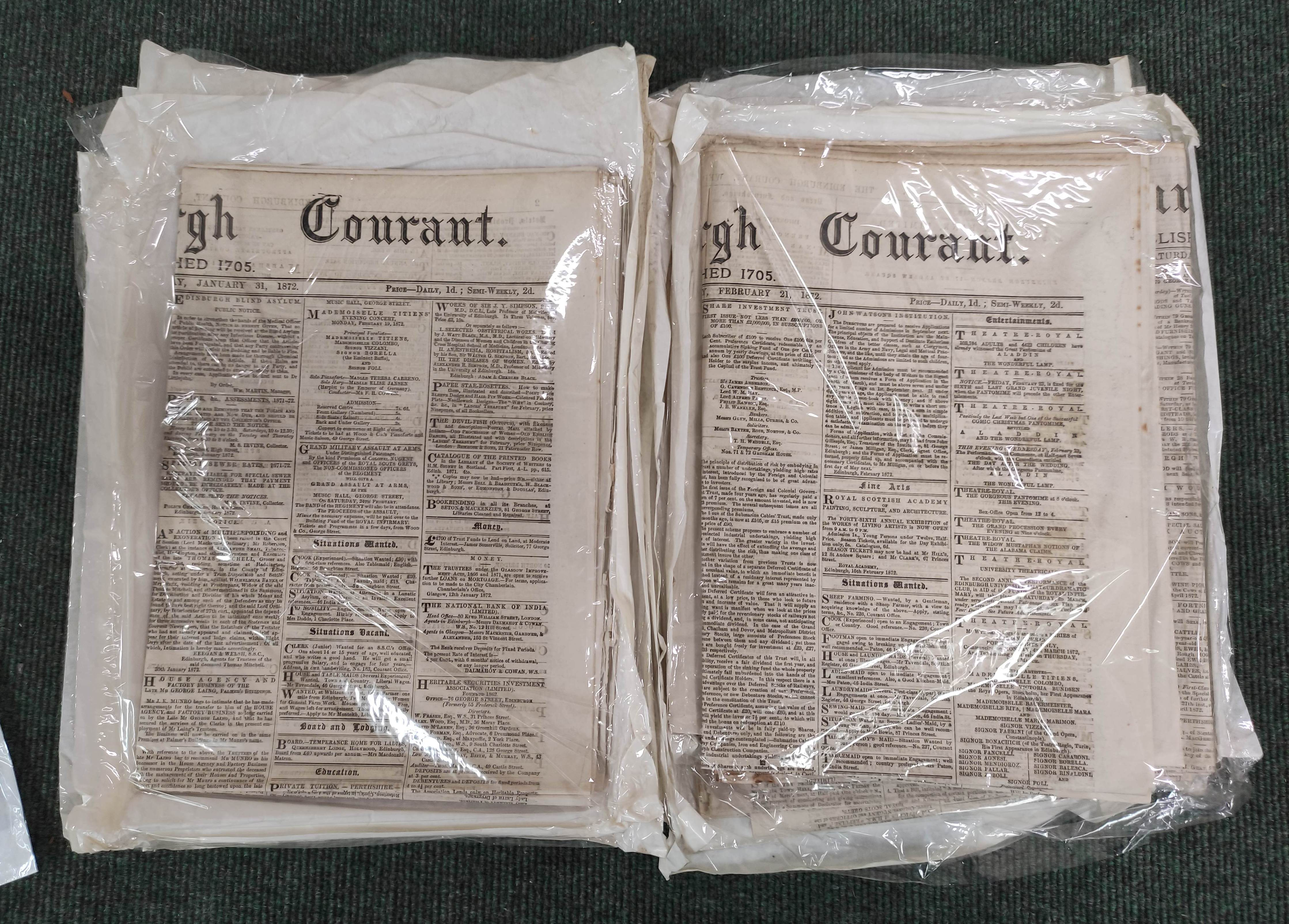 Edinburgh Courant.A bundle of issues of this newspaper, c.1872; also other periodicals incl. - Image 5 of 7