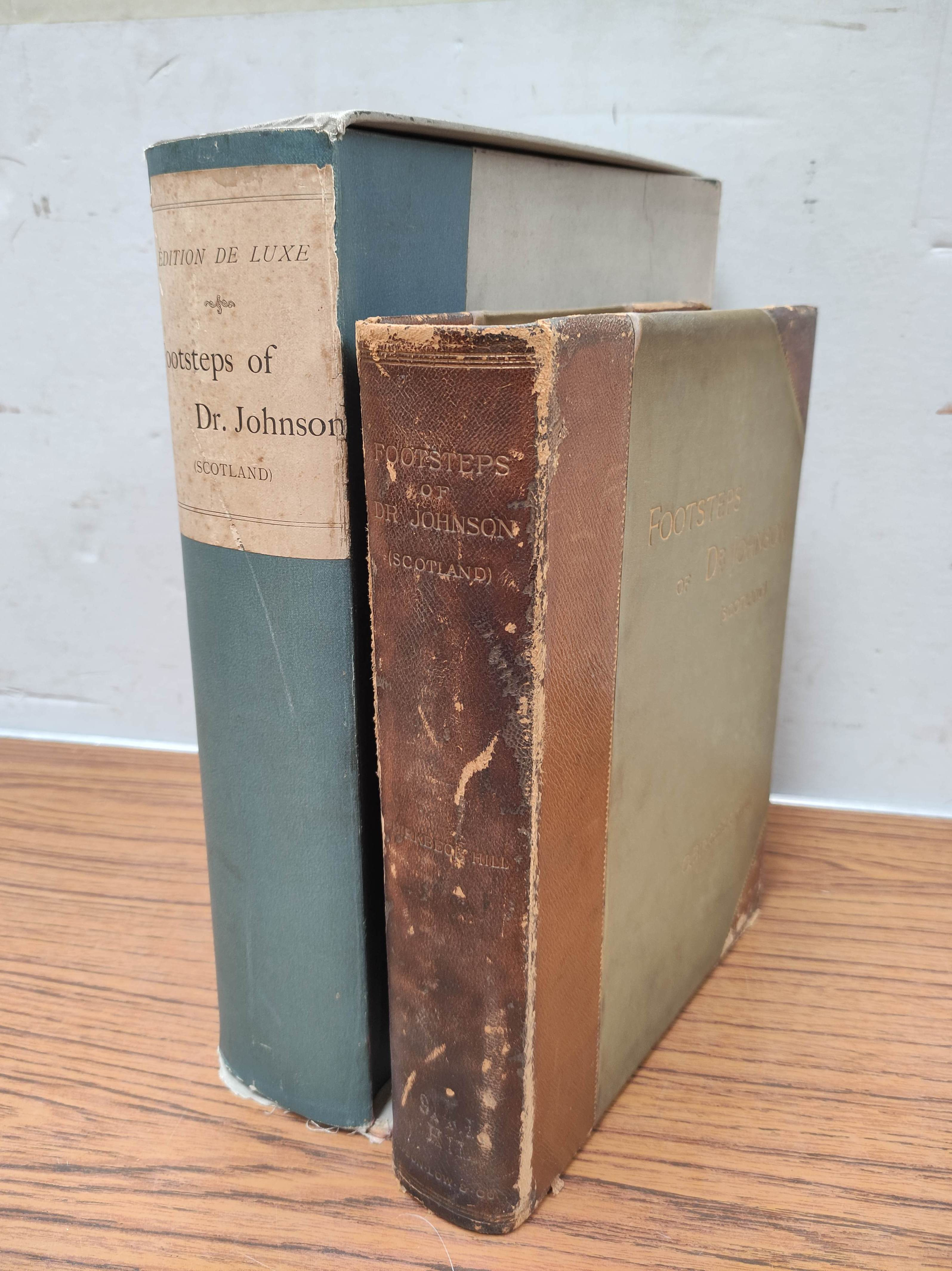 BIRKBECK HILL GEORGE.Footsteps of Dr. Johnson. Edition Deluxe. Plates. Unbound leaves in card