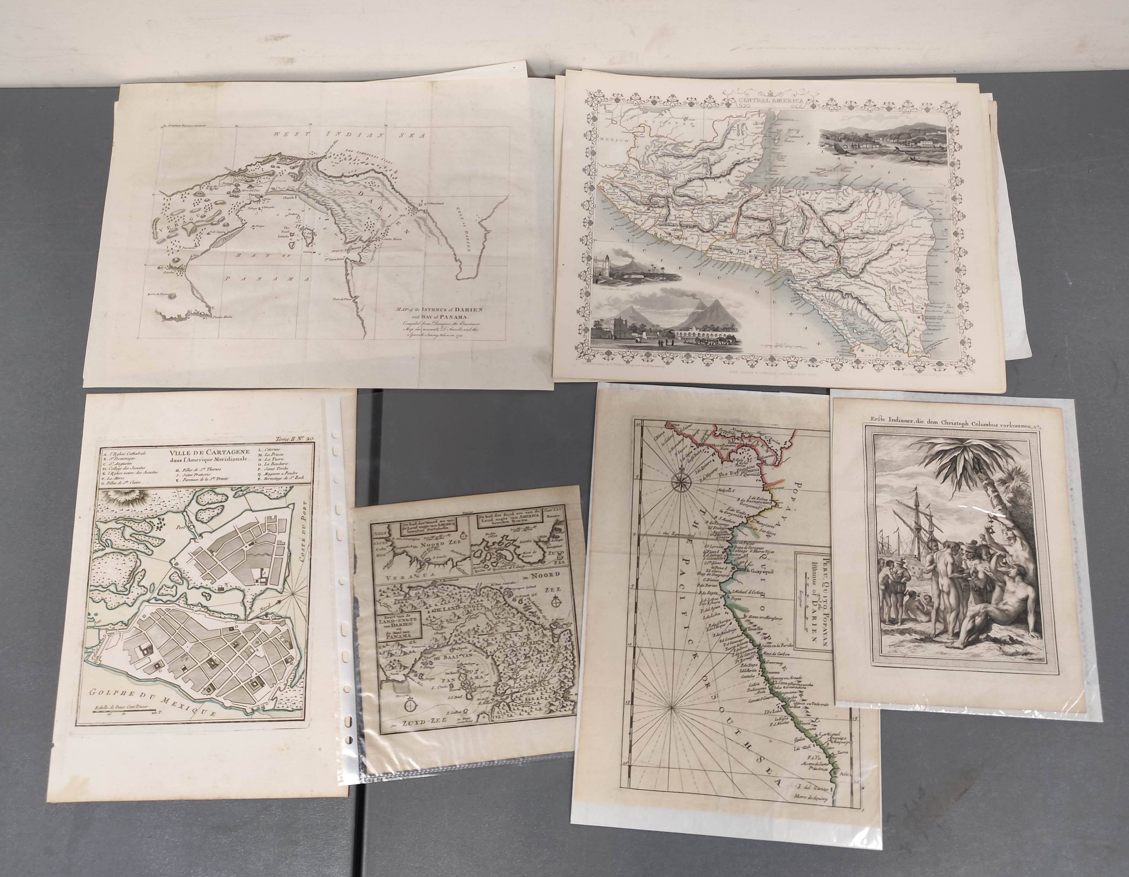 MOLL HERMAN.A Chart of the Coasts of Peru, Quito, Popayan and the Isthmus of Darien. Engraved map,