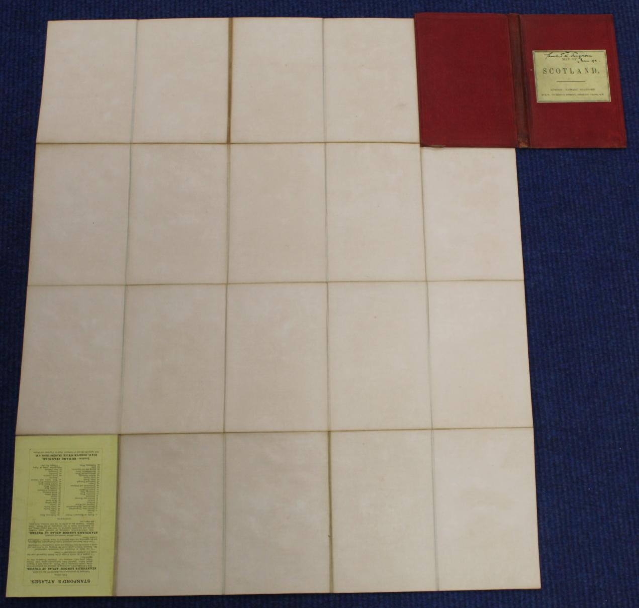 KIRKWOOD J. & SONS.Map of Scotland. Hand col. eng. fldg. linen map in well worn orig. slip case. - Image 24 of 36