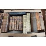 Calf Bound & others.A carton of various vols.