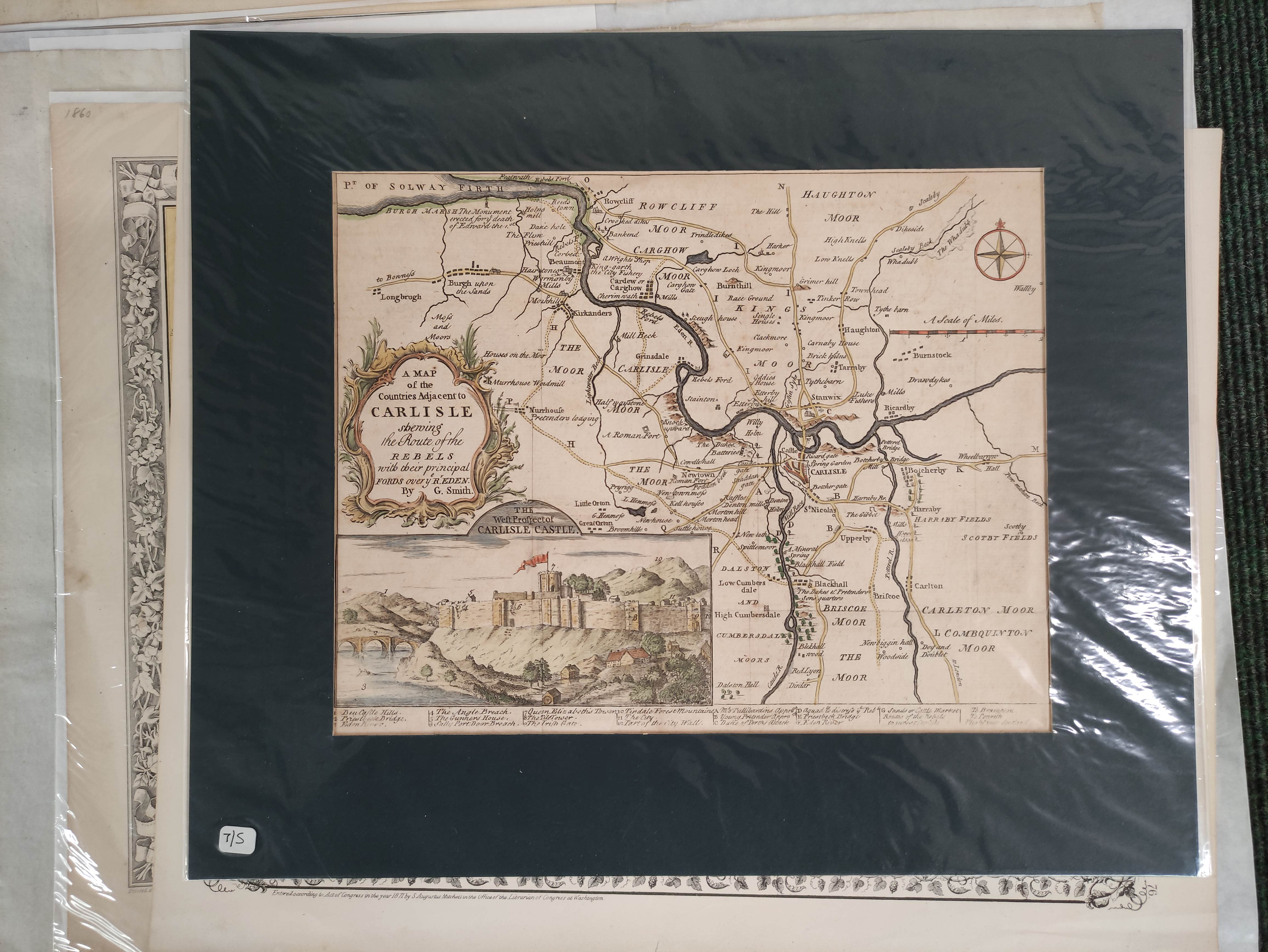 Engraved Maps.2 hand coloured eng. double maps of Ireland & Scotland by S. Augustus Mitchell, - Image 2 of 7