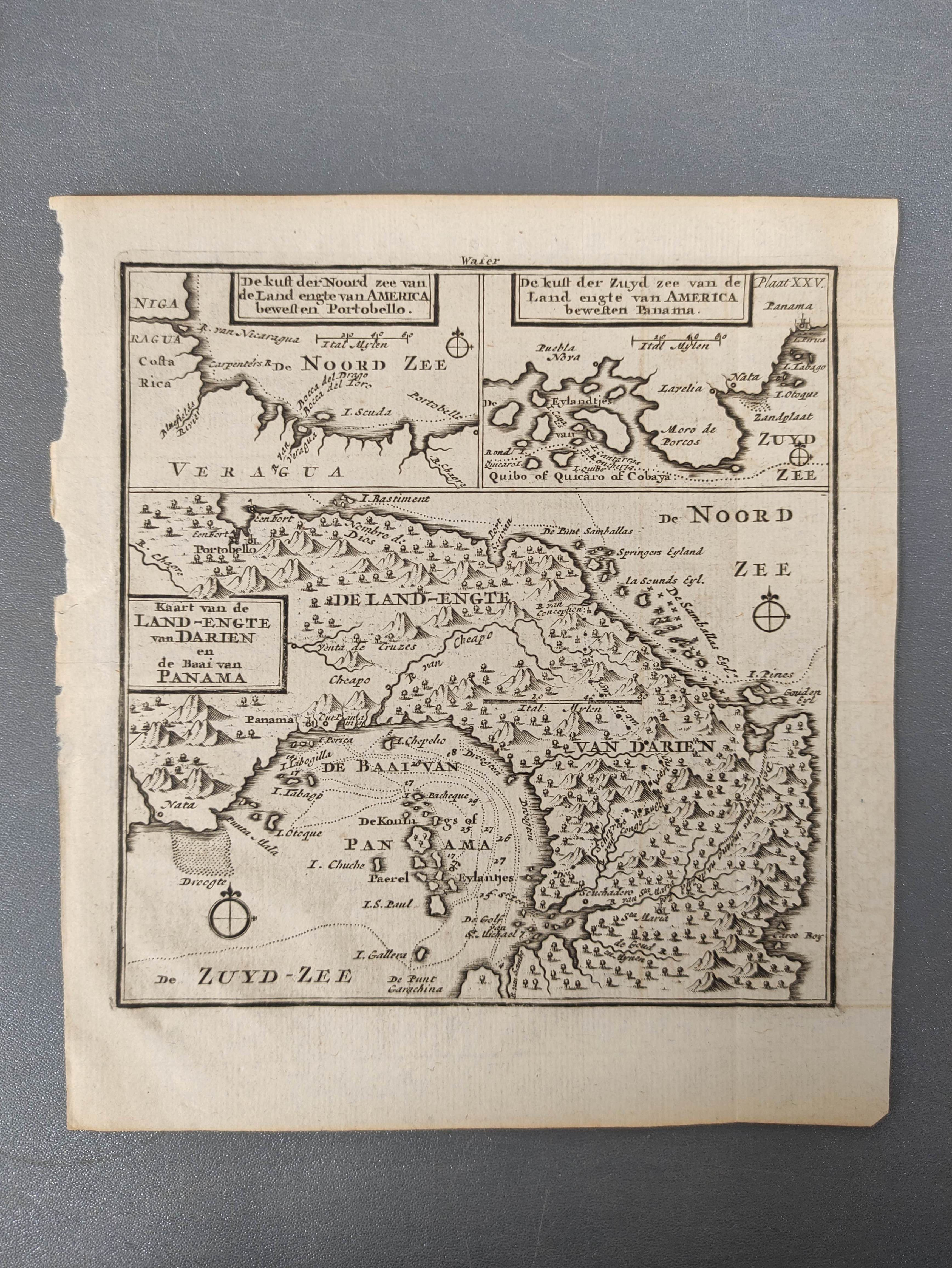 MOLL HERMAN.A Chart of the Coasts of Peru, Quito, Popayan and the Isthmus of Darien. Engraved map, - Image 6 of 6