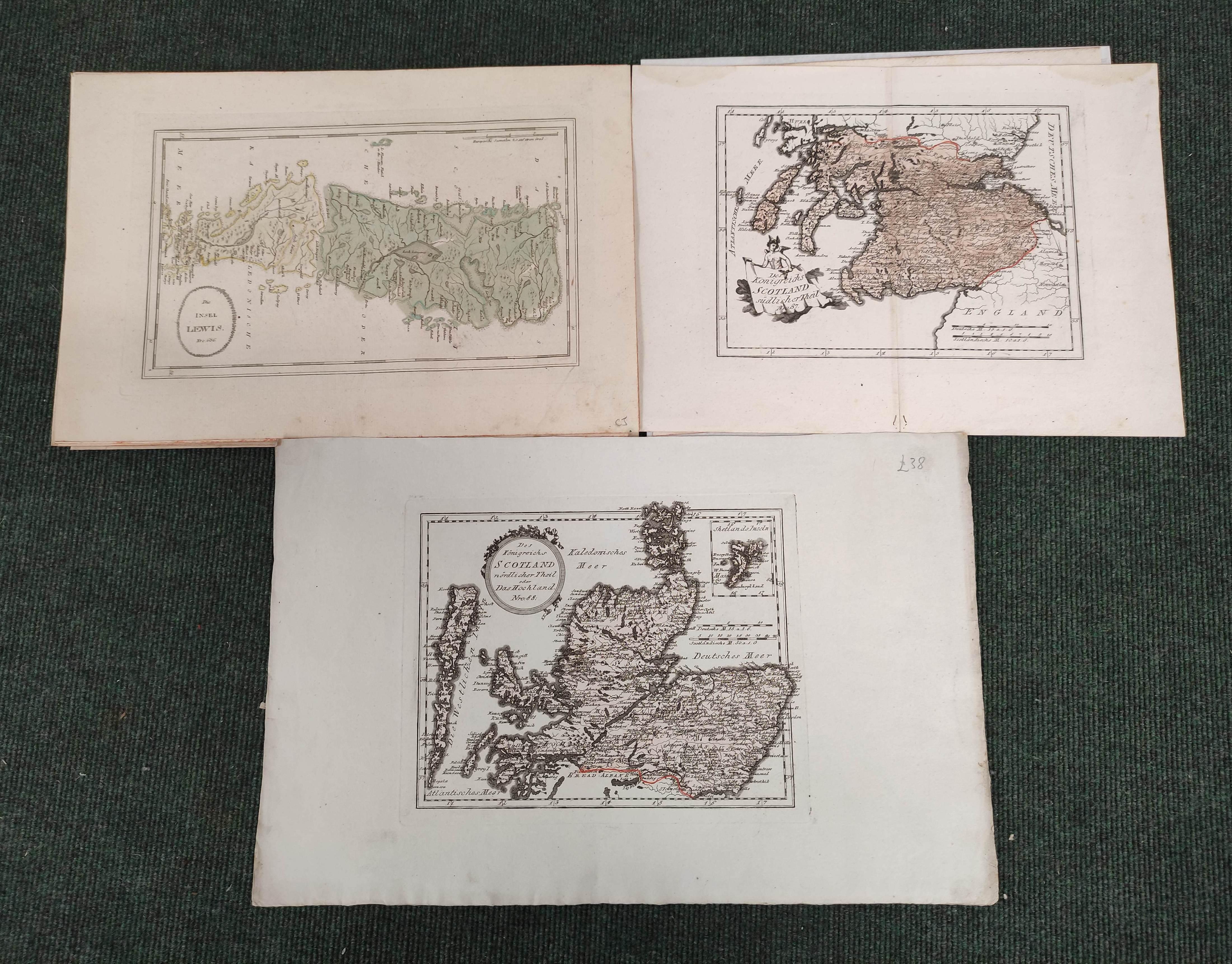(VON REILLY F. J. J.). Maps. Die Insel Lewis, no. 686, Die Insel Skye, no. 687 & 5 other hand