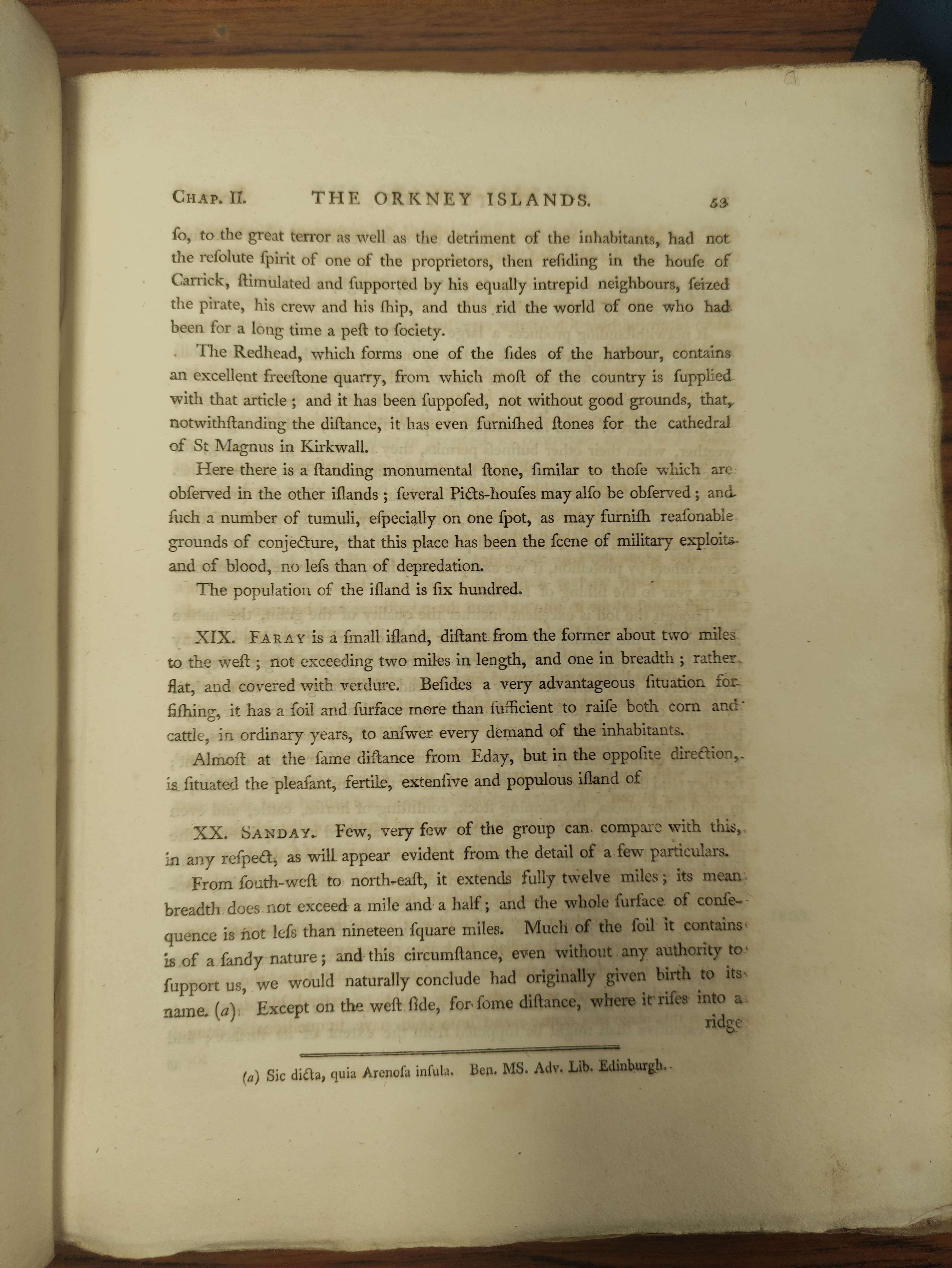 BARRY GEORGE. The History of the Orkney Islands. Fldg. eng. map & eng. plates. Quarto. Rebacked - Image 8 of 13