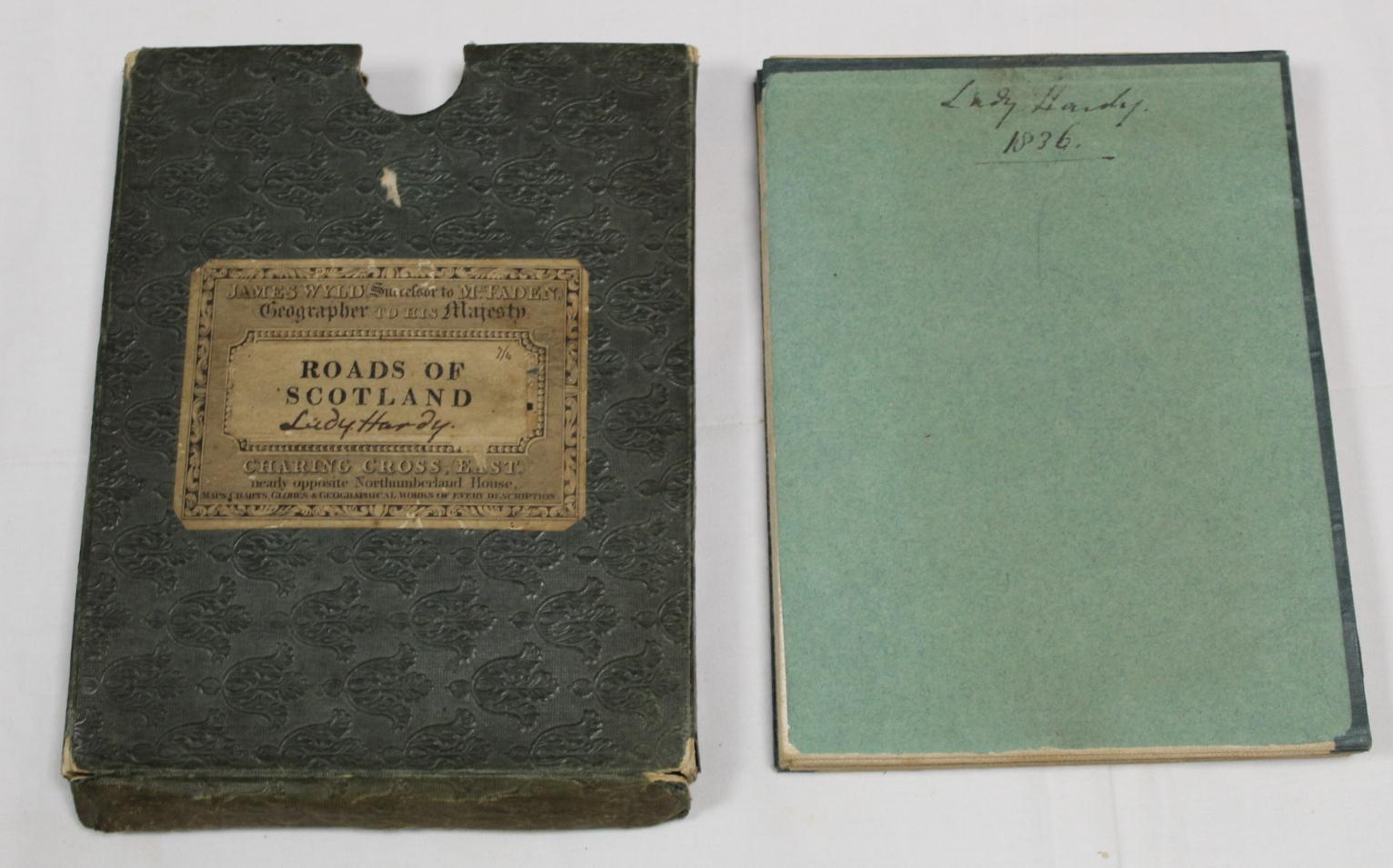 KIRKWOOD J. & SONS.Map of Scotland. Hand col. eng. fldg. linen map in well worn orig. slip case. - Image 25 of 36