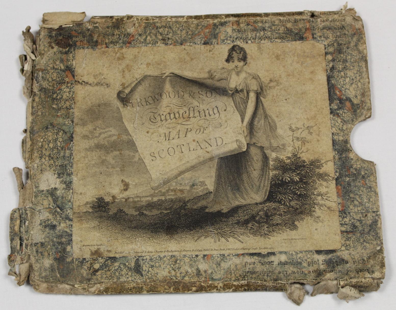 KIRKWOOD J. & SONS.Map of Scotland. Hand col. eng. fldg. linen map in well worn orig. slip case. - Image 17 of 36