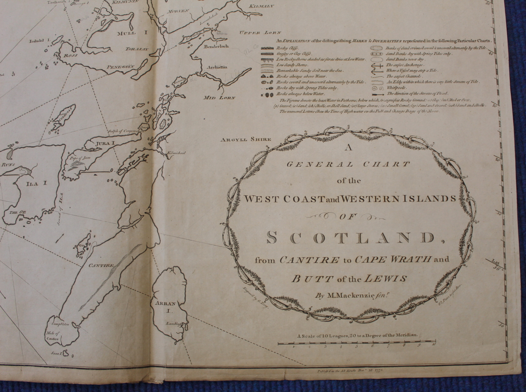MACKENZIE MURDOCH (SNR.).A General Chart of the West Coast & Western Islands of Scotland from - Image 21 of 66