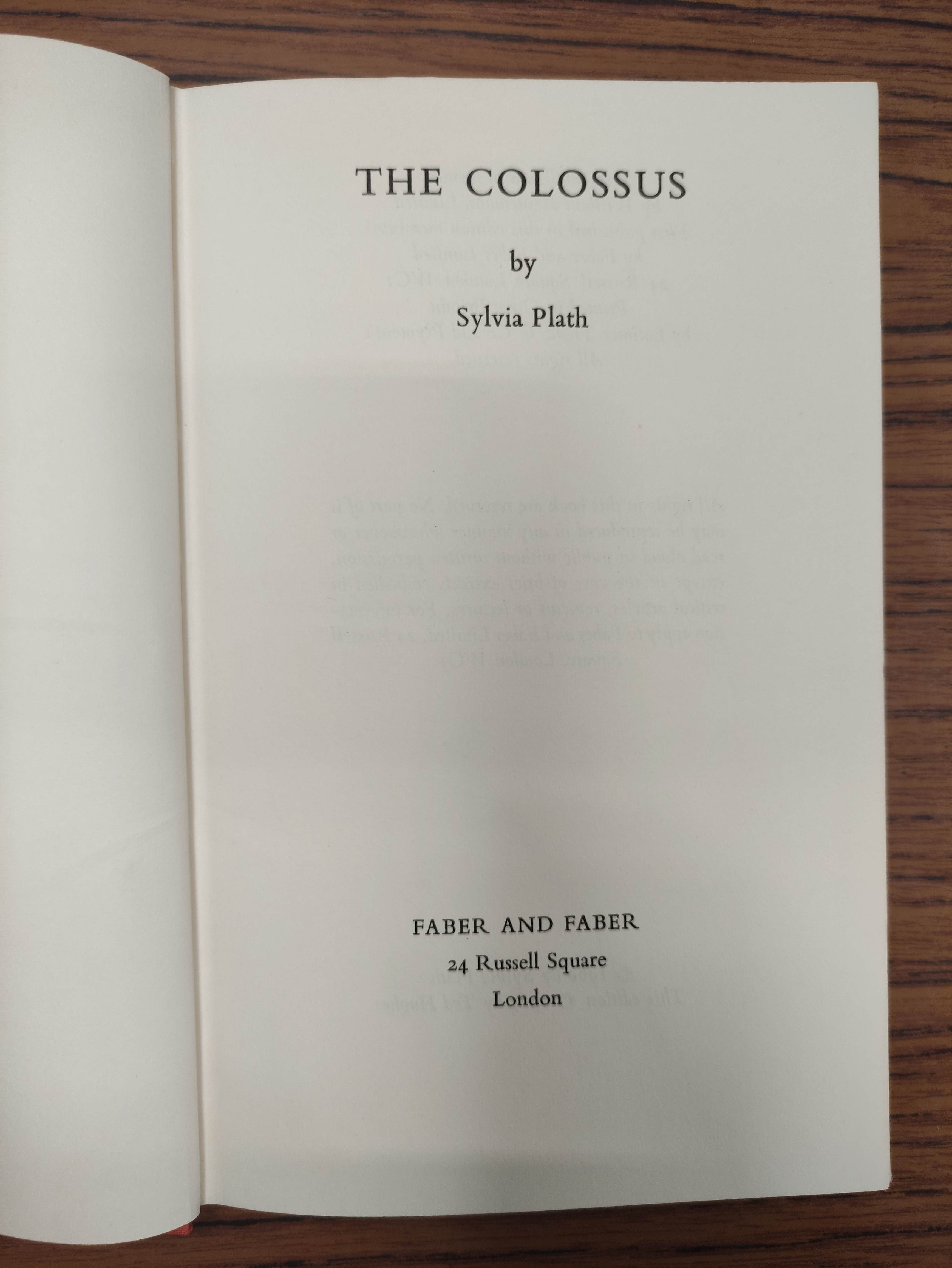 PLATH SYLVIA.Ariel. Orig. red cloth in d.w. 3rd imp., 1966; also Plath, The Colossus, d.w., 1967 & - Image 4 of 12