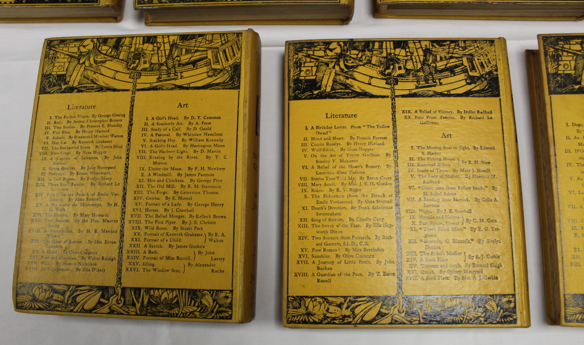 THE YELLOW BOOK.An Illustrated Quarterly. A set of 13 vols., many fine illus. Small quarto. - Image 42 of 45