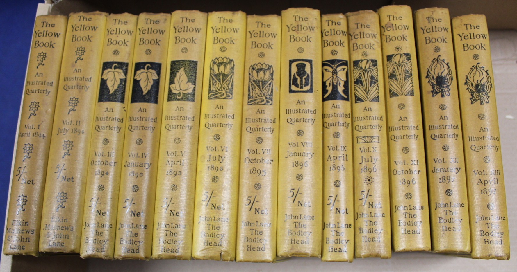 THE YELLOW BOOK.An Illustrated Quarterly. A set of 13 vols., many fine illus. Small quarto. - Image 45 of 45