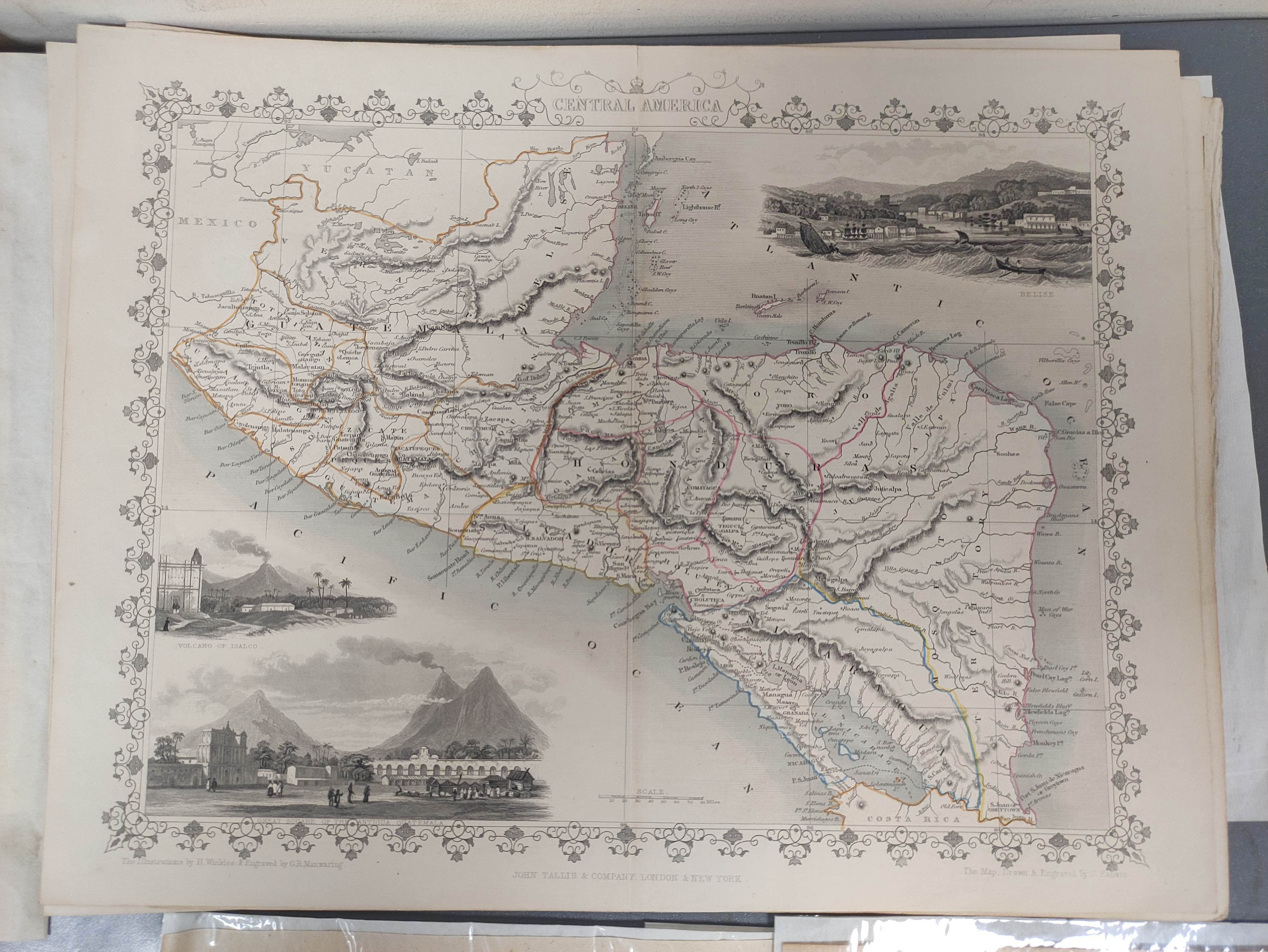 MOLL HERMAN.A Chart of the Coasts of Peru, Quito, Popayan and the Isthmus of Darien. Engraved map, - Image 2 of 6