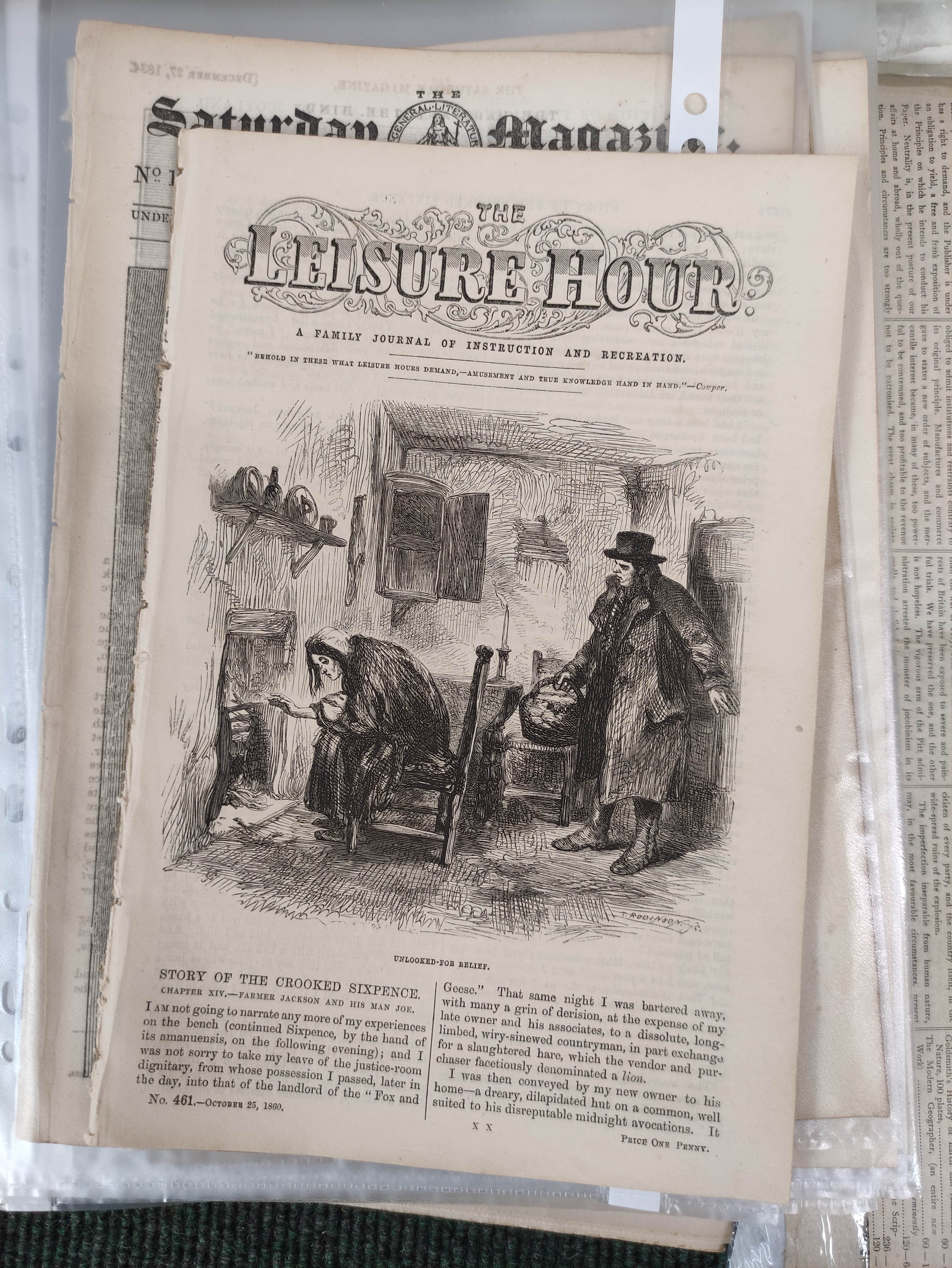 Edinburgh Courant.A bundle of issues of this newspaper, c.1872; also other periodicals incl. - Image 2 of 7
