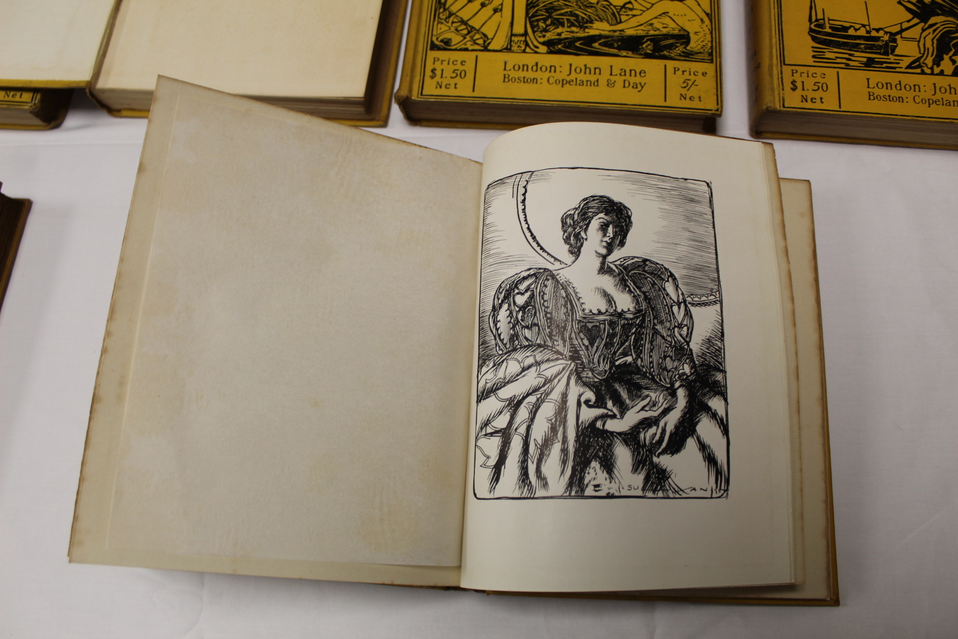 THE YELLOW BOOK.An Illustrated Quarterly. A set of 13 vols., many fine illus. Small quarto. - Image 28 of 45