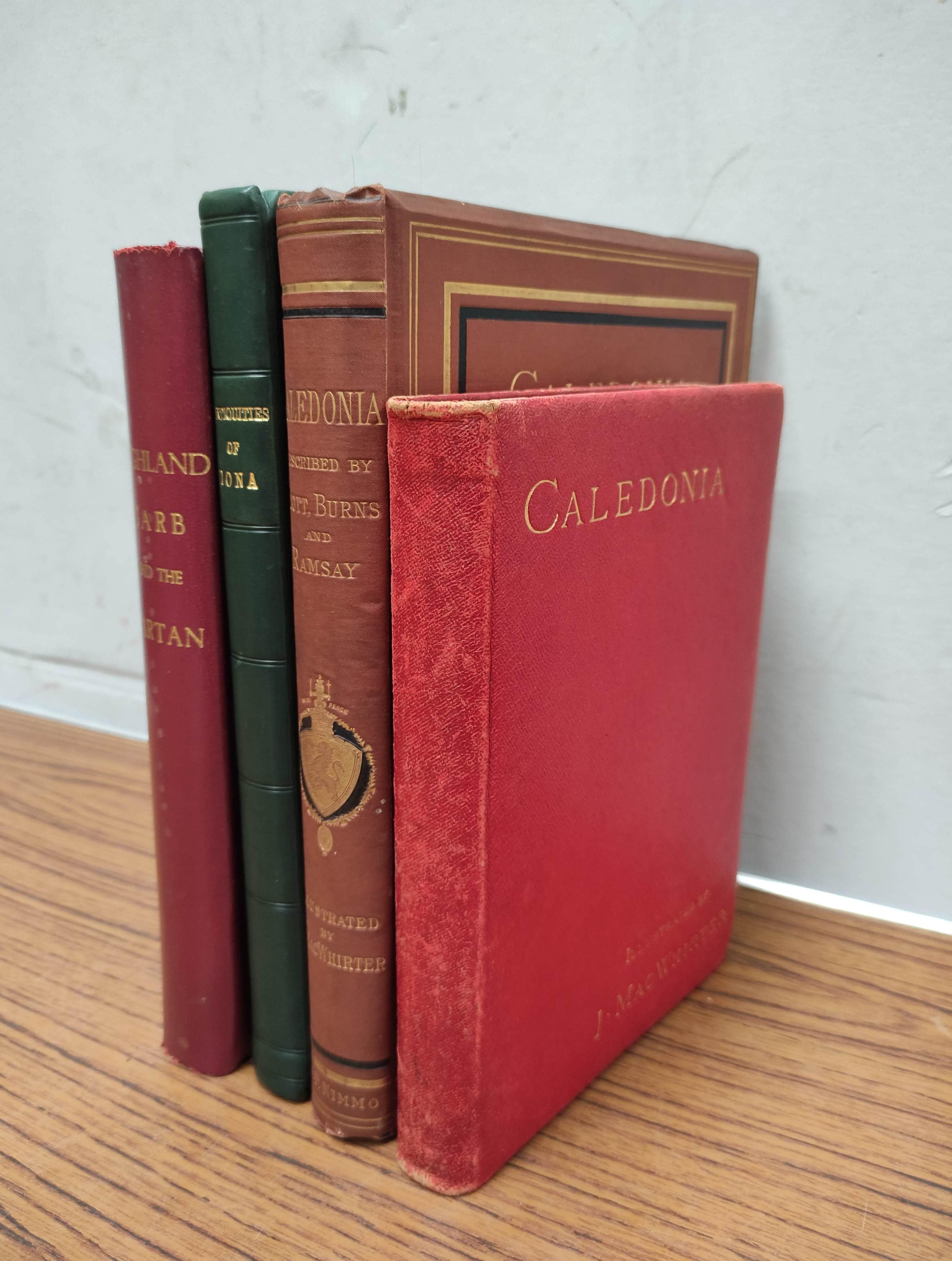 GRAHAM H. D.Antiquities of Iona. Litho frontis, map & plates. Quarto. Rebound qtr. green calf,