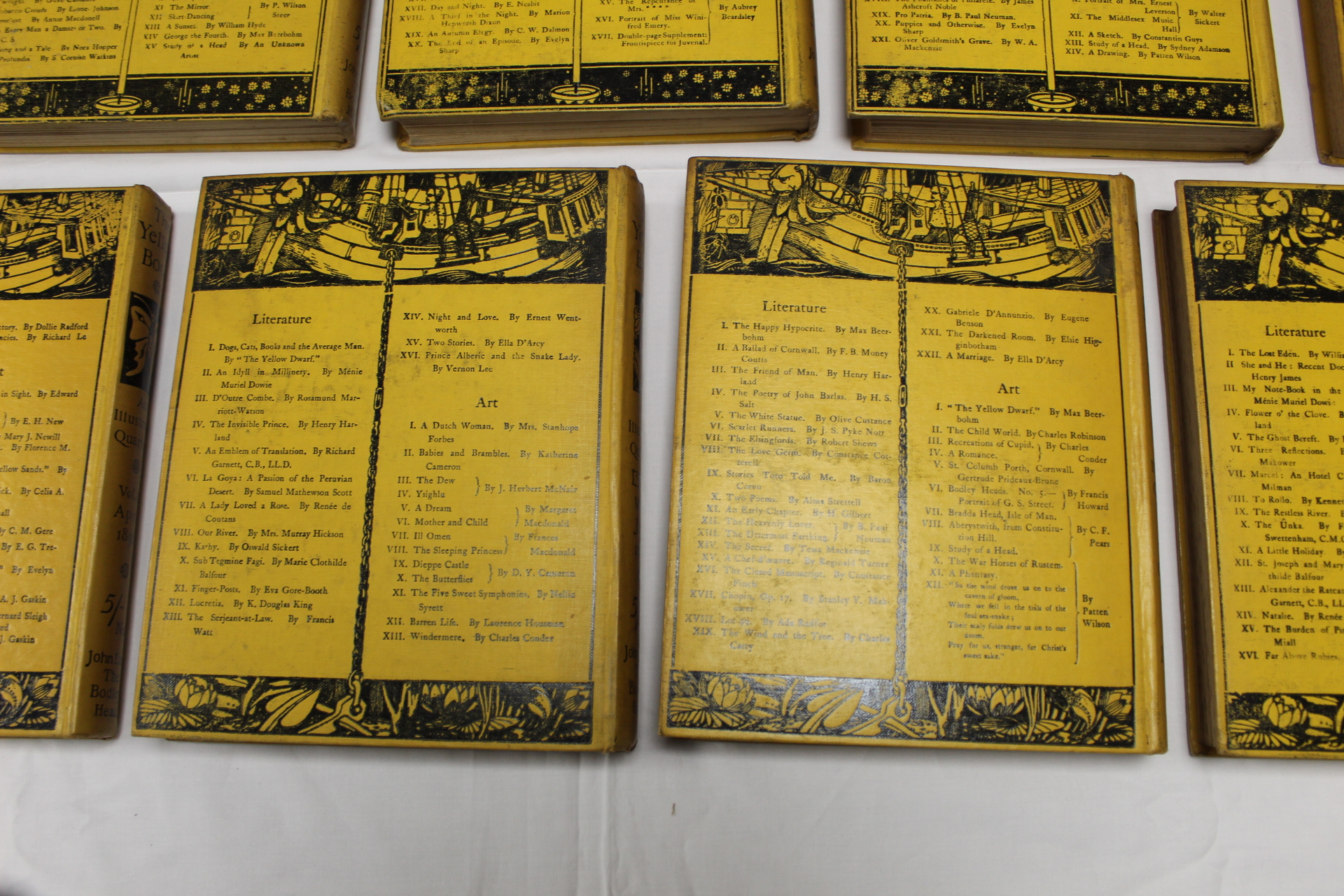 THE YELLOW BOOK.An Illustrated Quarterly. A set of 13 vols., many fine illus. Small quarto. - Image 41 of 45