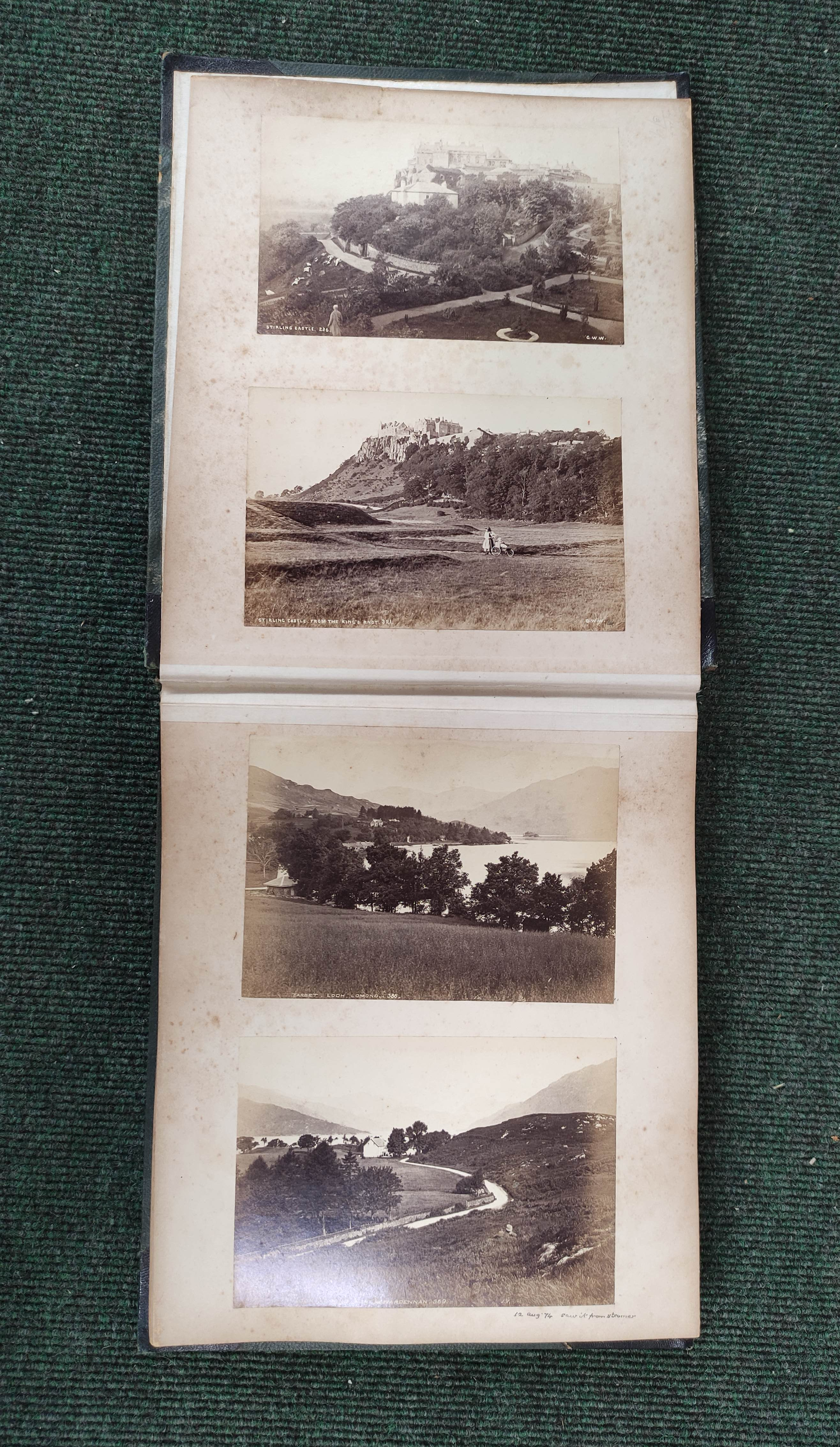 Highlands & Islands & others.A carton of prints & ephemera; also a quarto album of sepia & other - Image 4 of 7