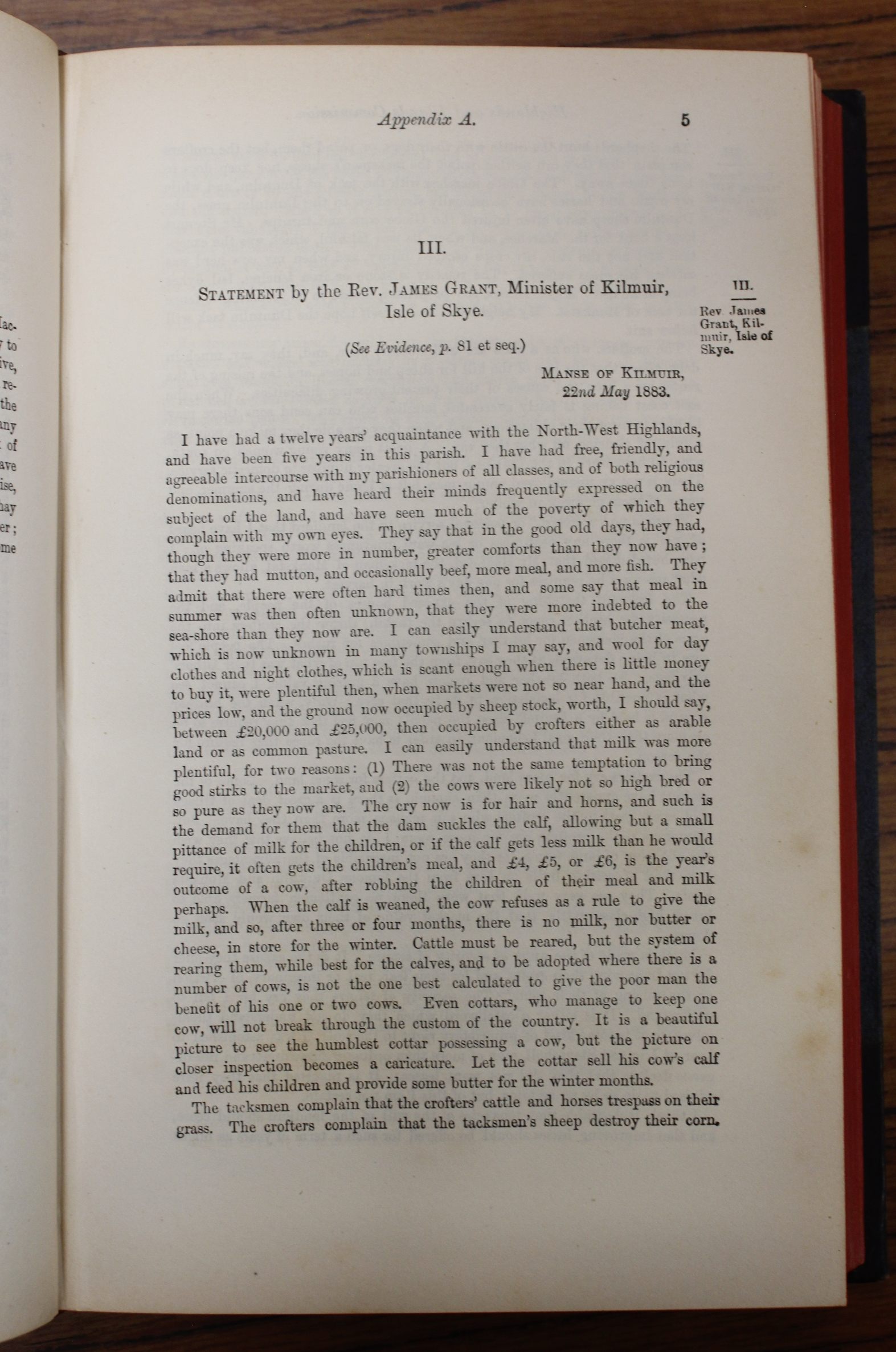 CROFTERS COMMISSION.Report of Her Majesty's Commissioners of Inquiry. 5 vols. incl. Evidential - Image 6 of 9