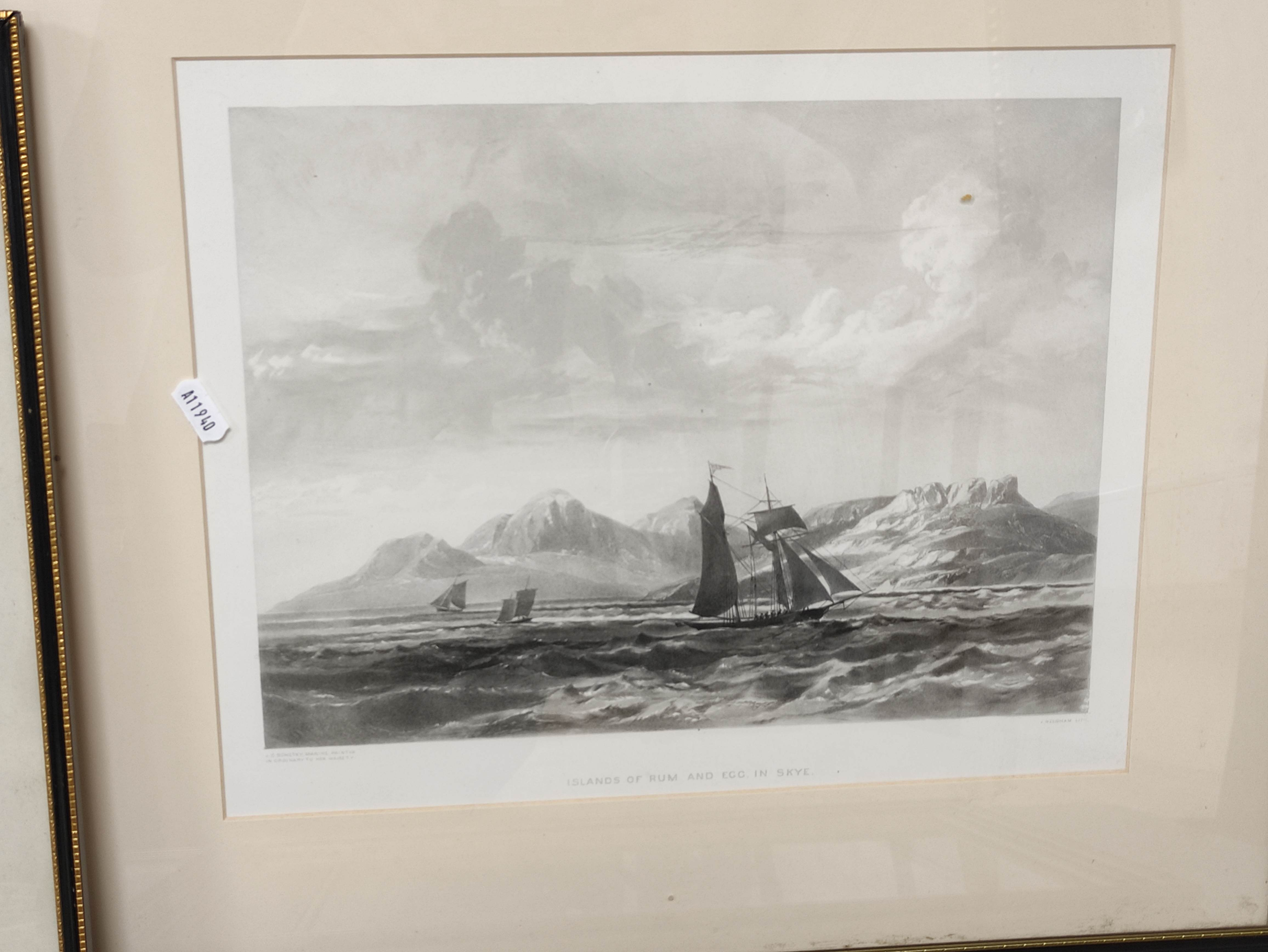 HORATIO McCULLOCH.Coast of Sleate, Isle of Skye, hand coloured lithograph; also 4 other - Image 5 of 5