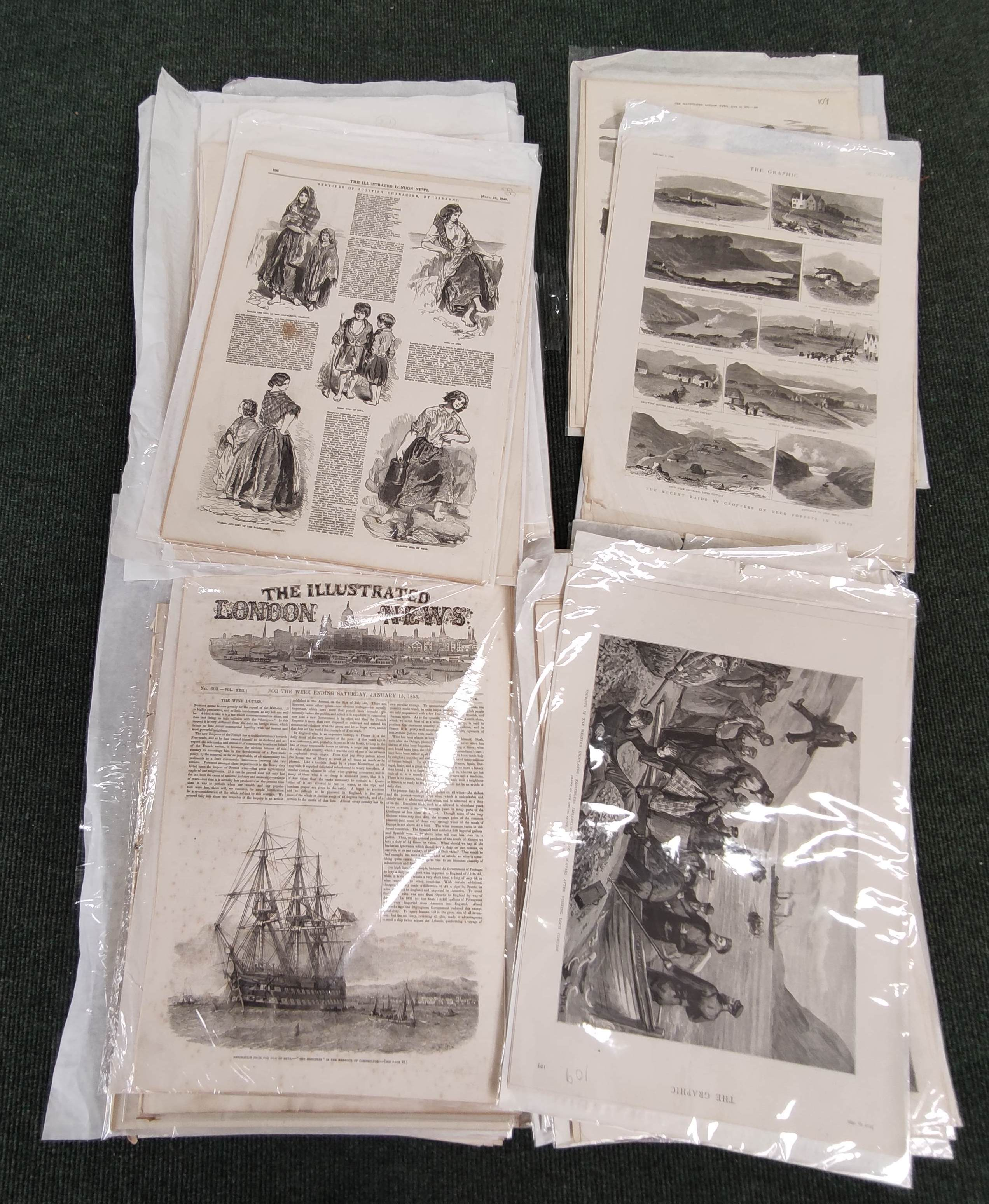 Illustrated London News, The Graphic & other periodicals. A collection of extracts & loose illus.