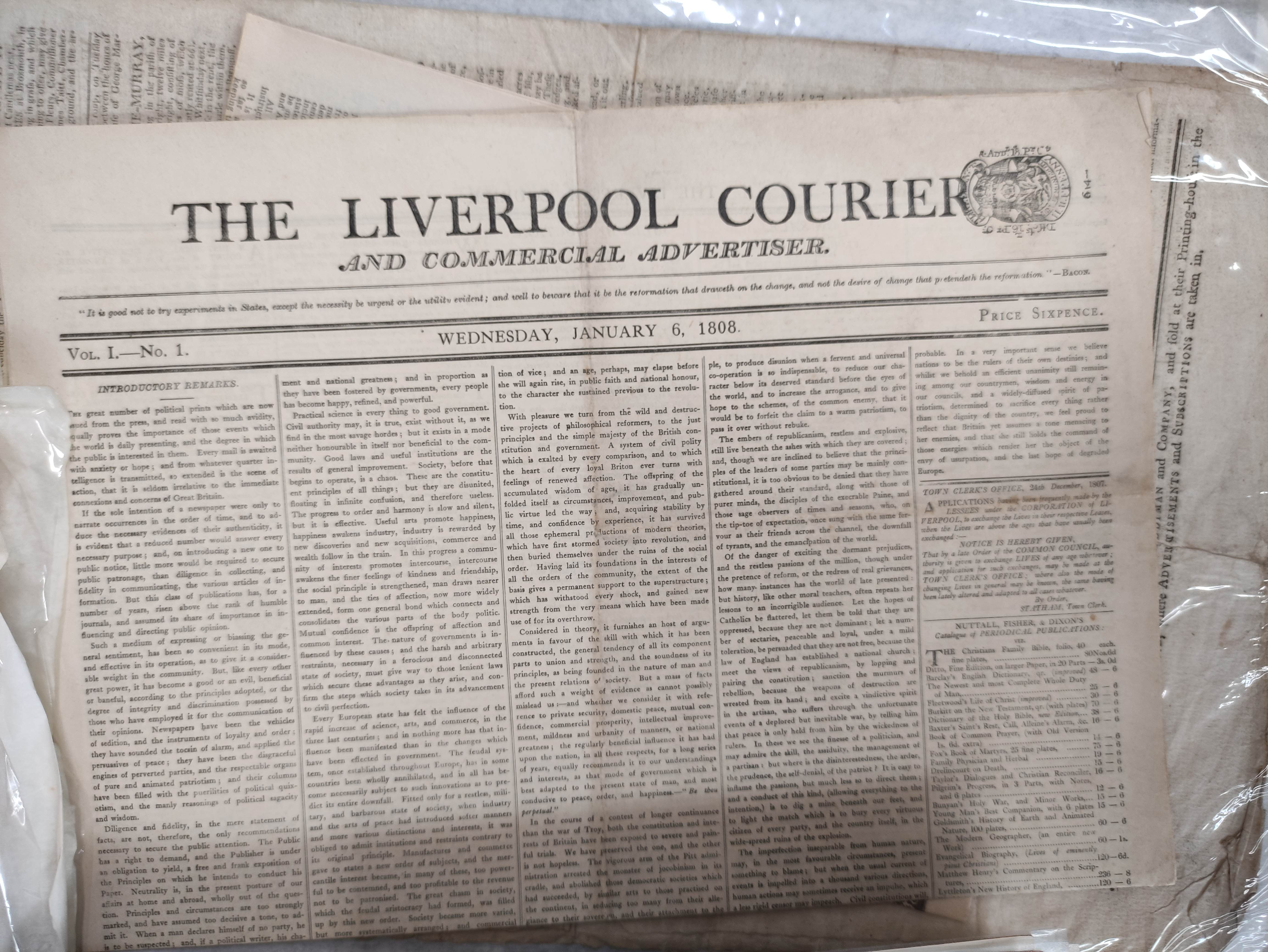 Edinburgh Courant.A bundle of issues of this newspaper, c.1872; also other periodicals incl. - Image 3 of 7