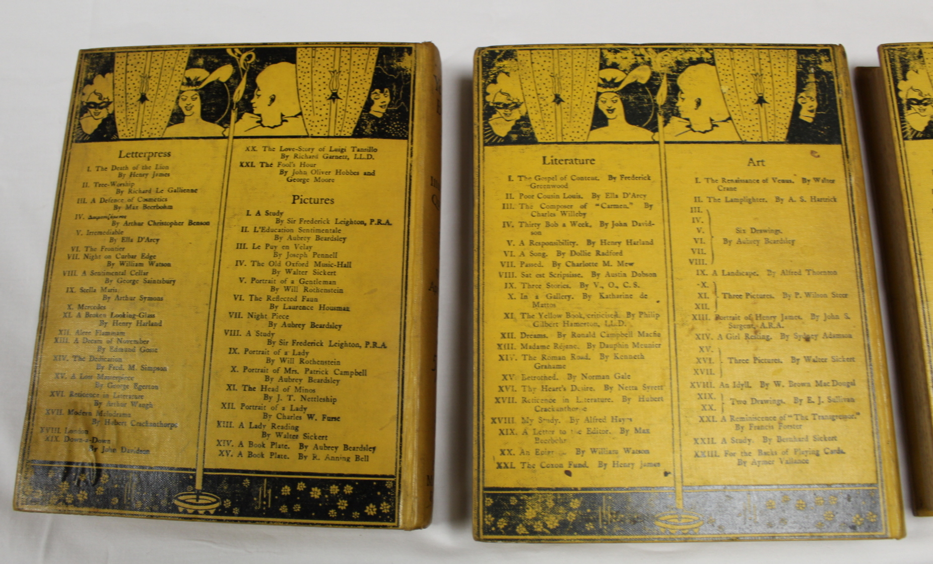 THE YELLOW BOOK.An Illustrated Quarterly. A set of 13 vols., many fine illus. Small quarto. - Image 36 of 45