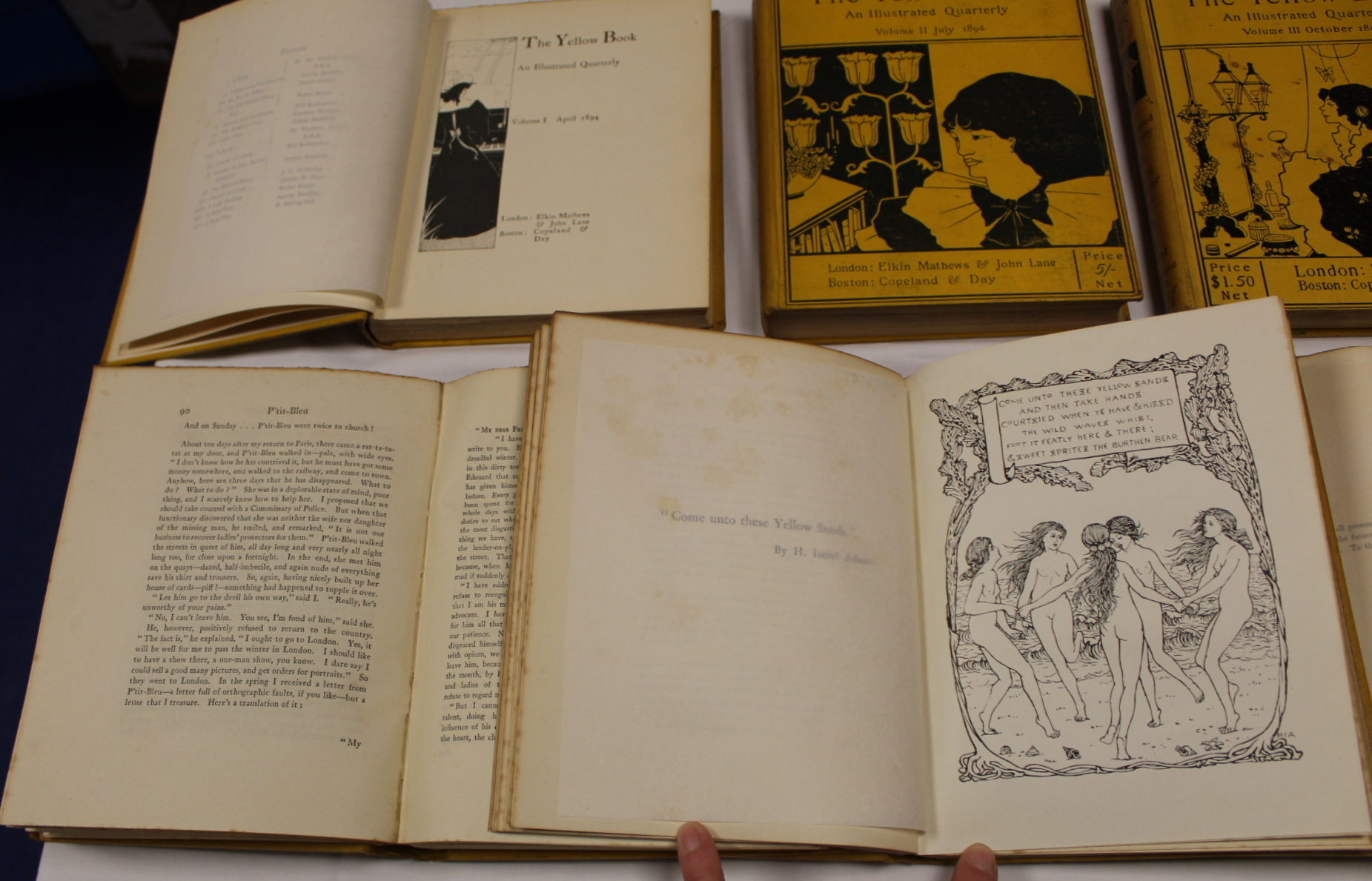 THE YELLOW BOOK.An Illustrated Quarterly. A set of 13 vols., many fine illus. Small quarto. - Image 12 of 45