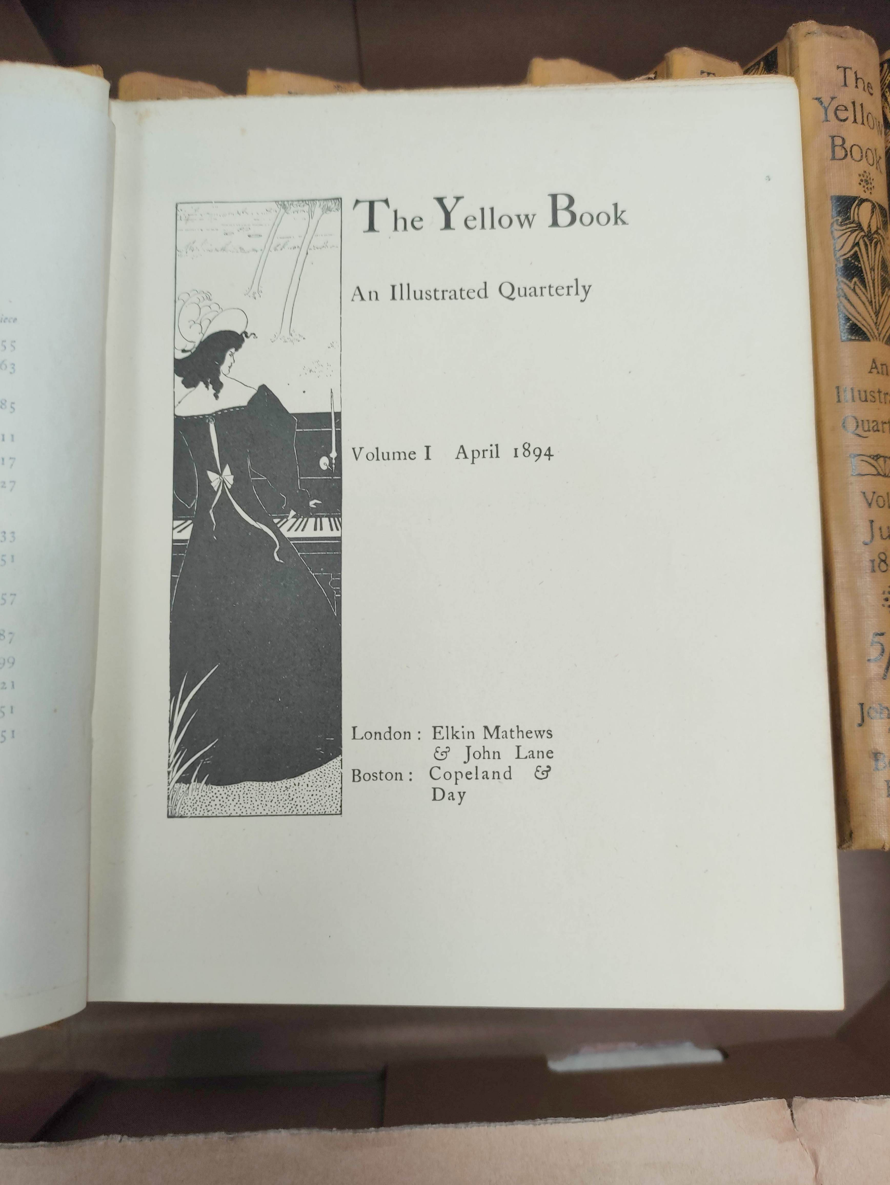 THE YELLOW BOOK.An Illustrated Quarterly. A set of 13 vols., many fine illus. Small quarto. - Image 4 of 45