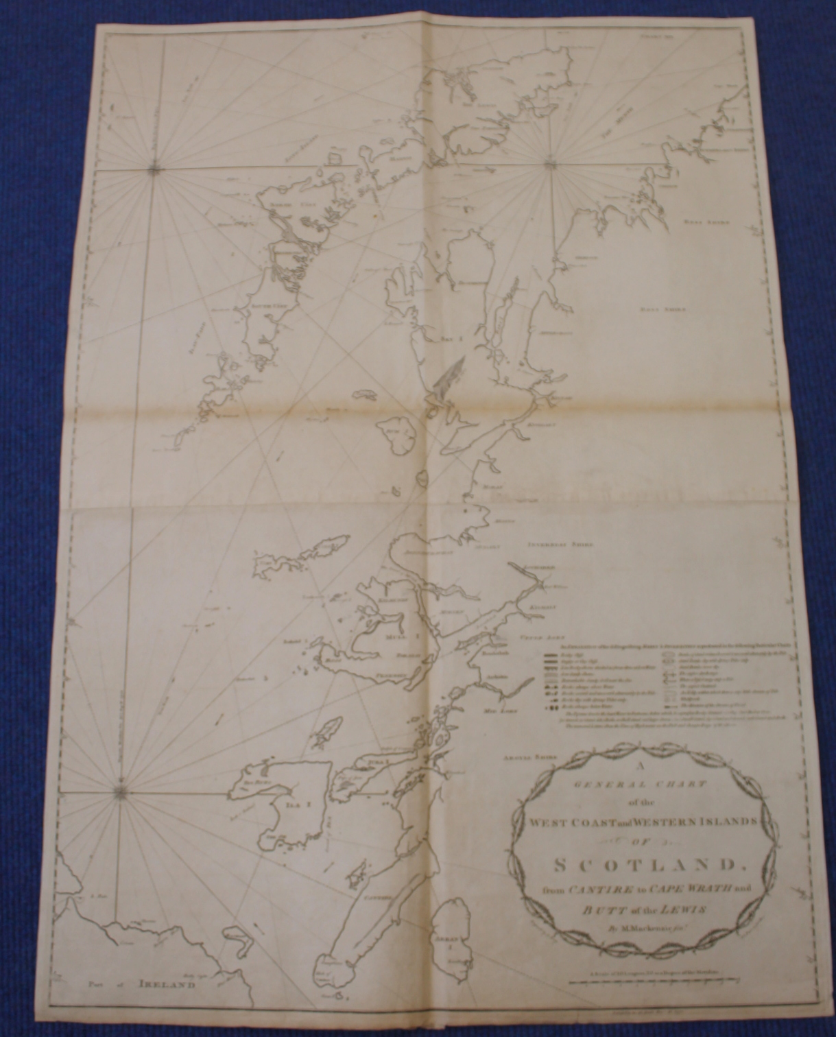 MACKENZIE MURDOCH (SNR.).A General Chart of the West Coast & Western Islands of Scotland from - Image 22 of 66