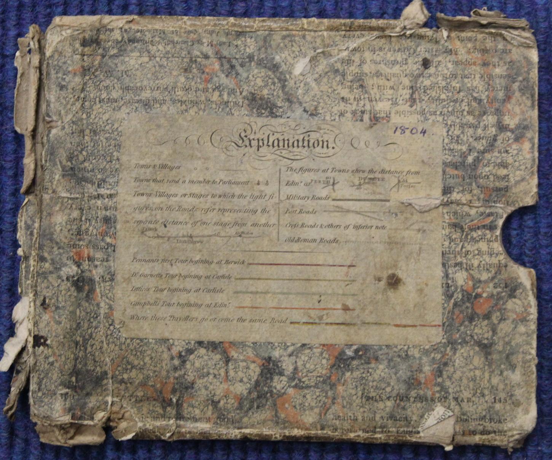 KIRKWOOD J. & SONS.Map of Scotland. Hand col. eng. fldg. linen map in well worn orig. slip case. - Image 12 of 36