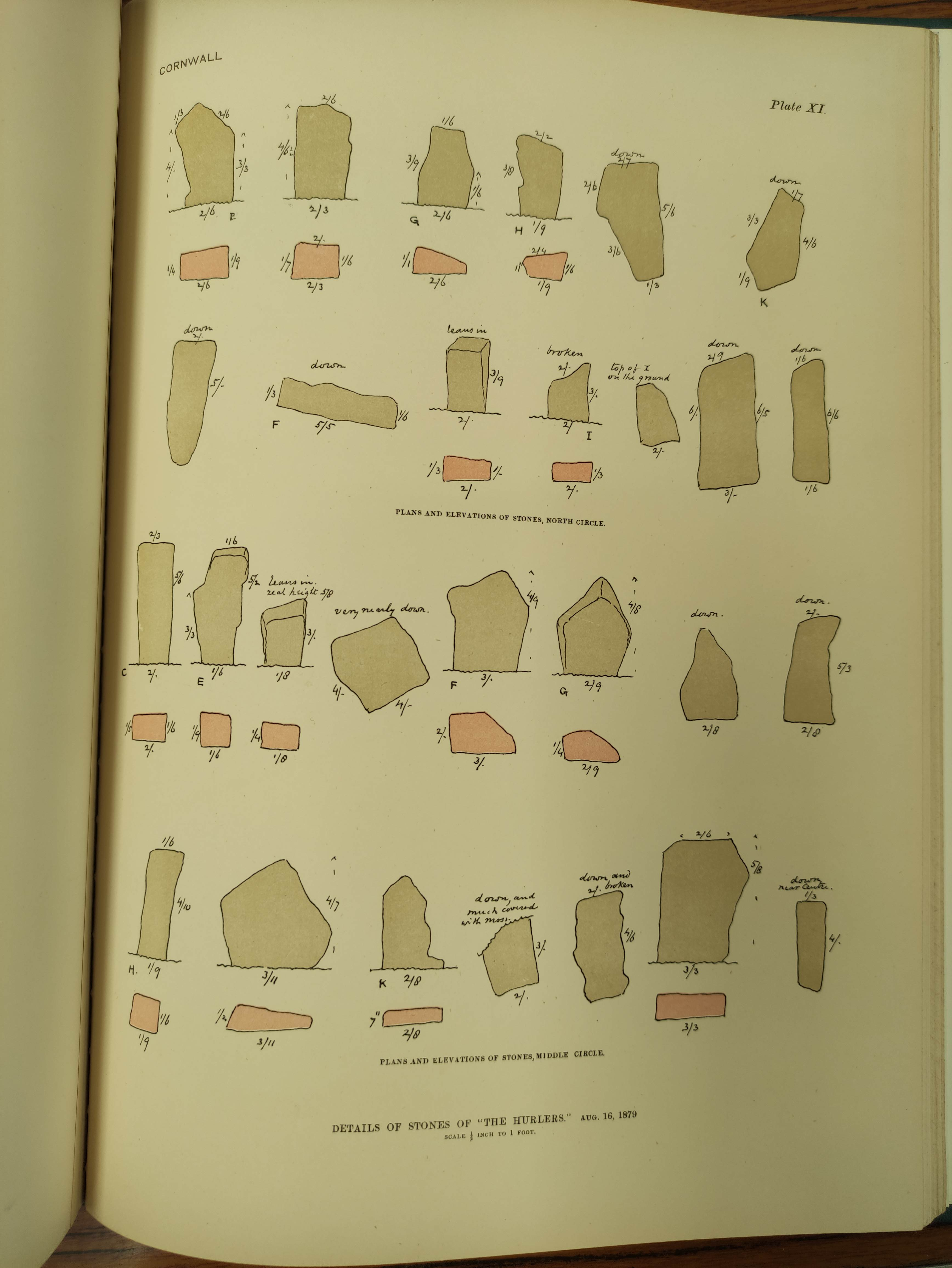 LUKIS WILLIAM C.The Prehistoric Stone Monuments of the British Isles, vol. re Cornwall. Col. - Image 6 of 7