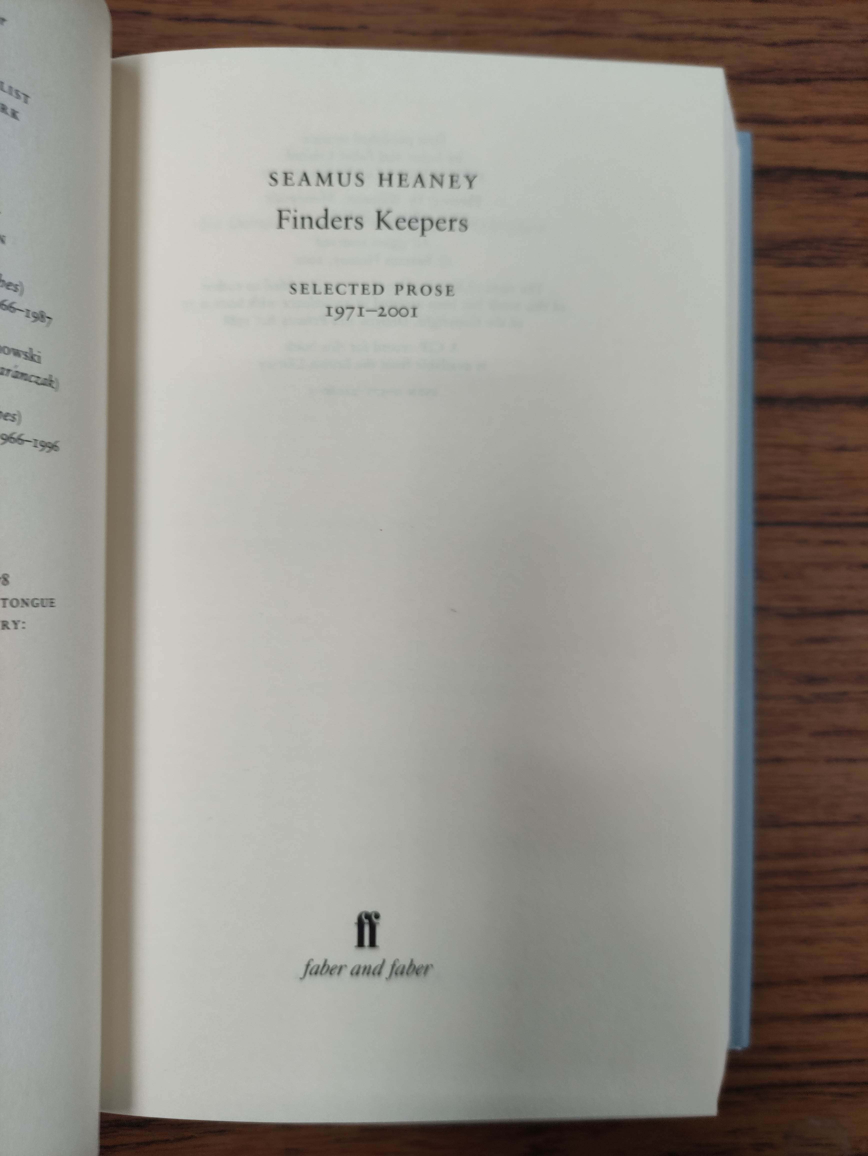 HEANEY SEAMUS. Sweeney Astray. Signed by Heaney. Orig. brown & lime green cloth & brds. in d.w. - Image 8 of 9