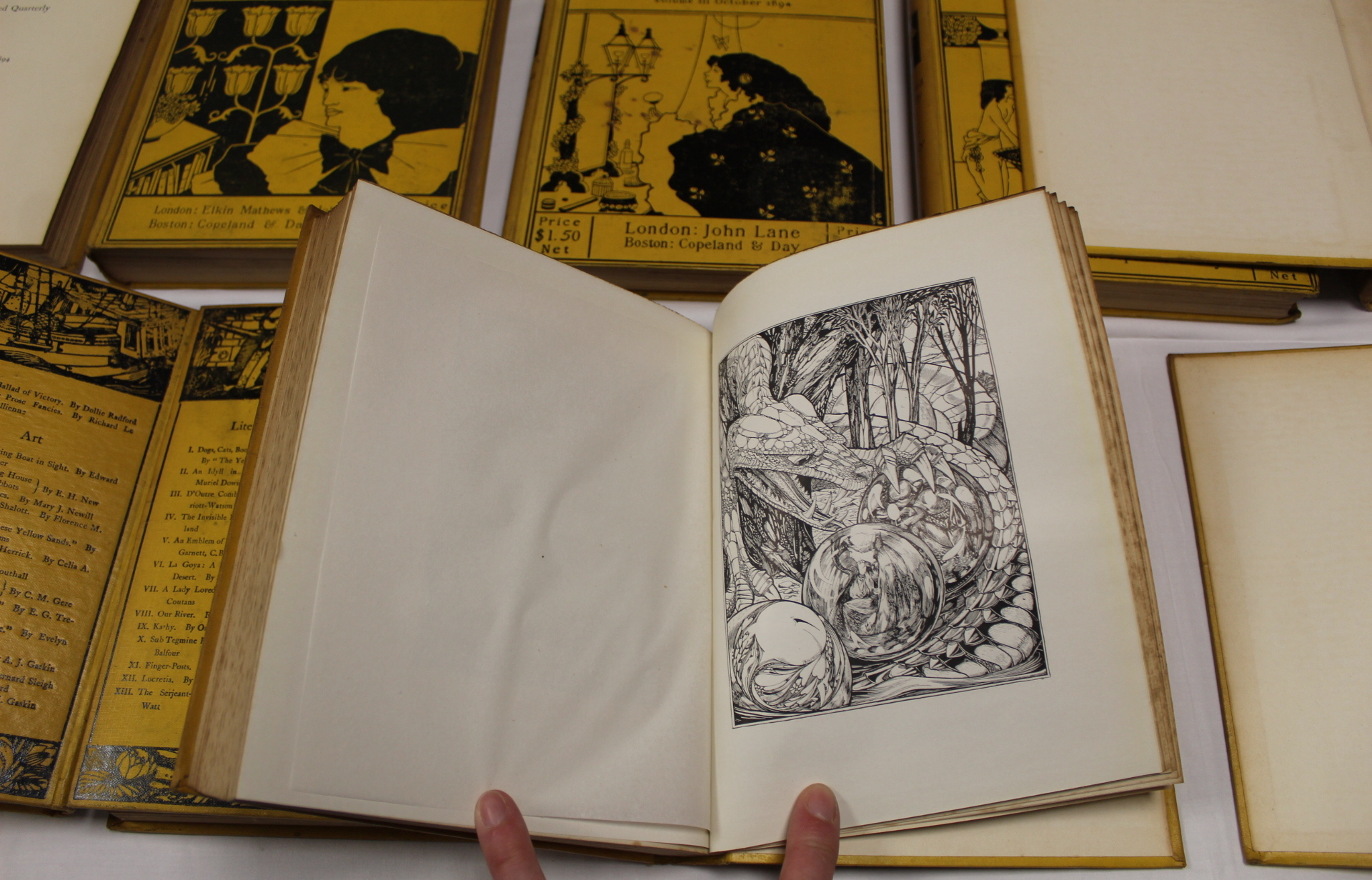 THE YELLOW BOOK.An Illustrated Quarterly. A set of 13 vols., many fine illus. Small quarto. - Image 19 of 45