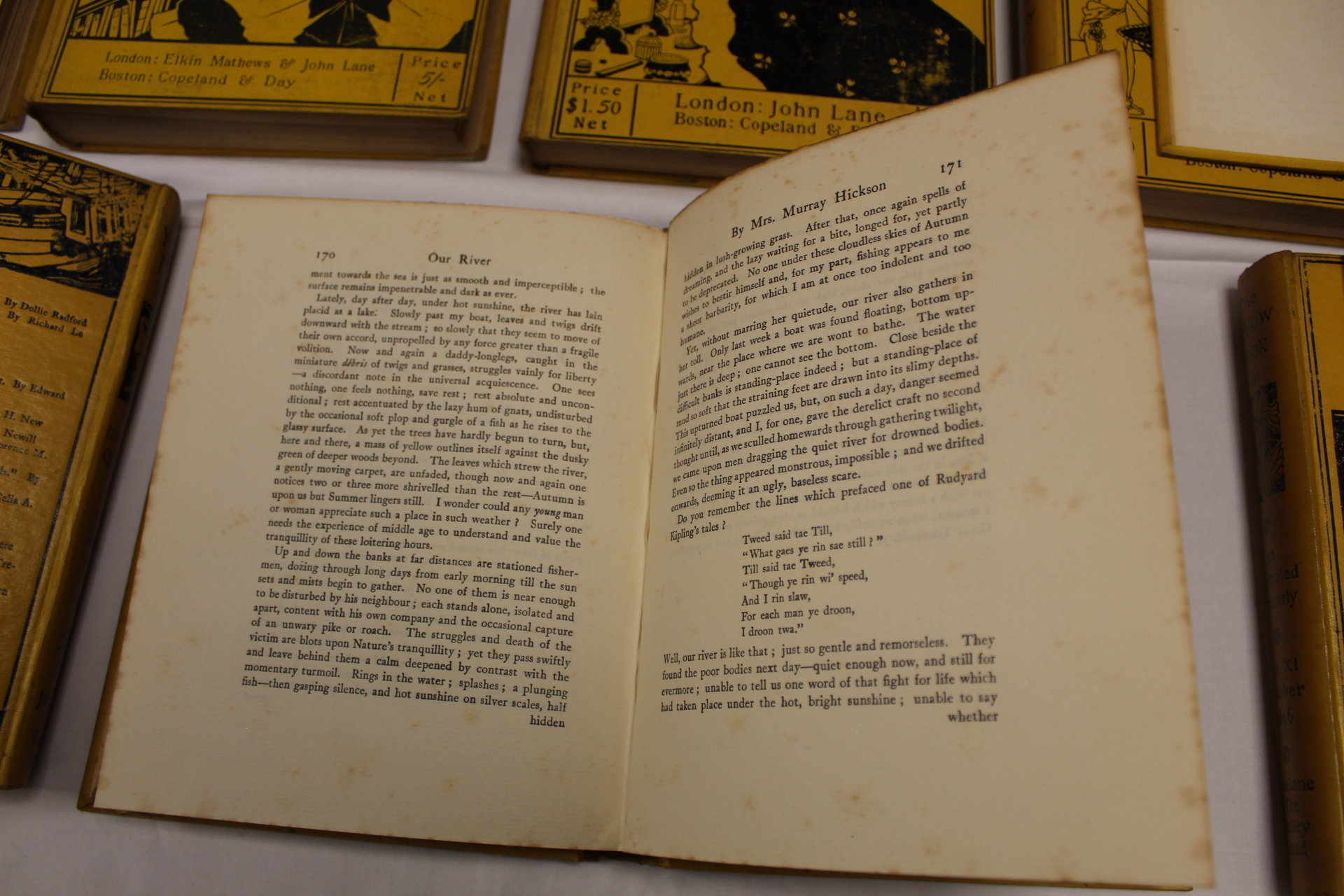 THE YELLOW BOOK.An Illustrated Quarterly. A set of 13 vols., many fine illus. Small quarto. - Image 15 of 45