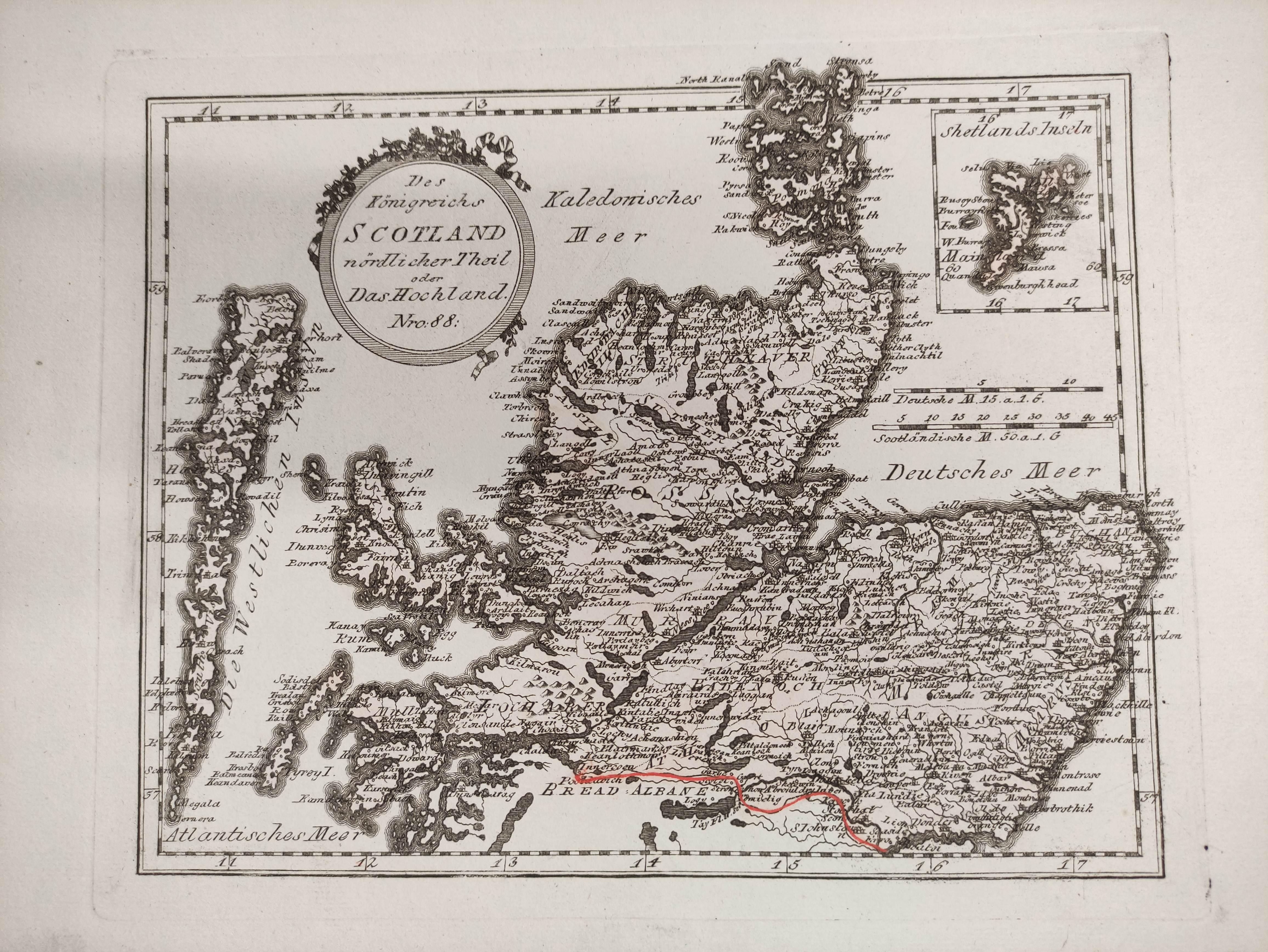 (VON REILLY F. J. J.). Maps. Die Insel Lewis, no. 686, Die Insel Skye, no. 687 & 5 other hand - Image 2 of 5