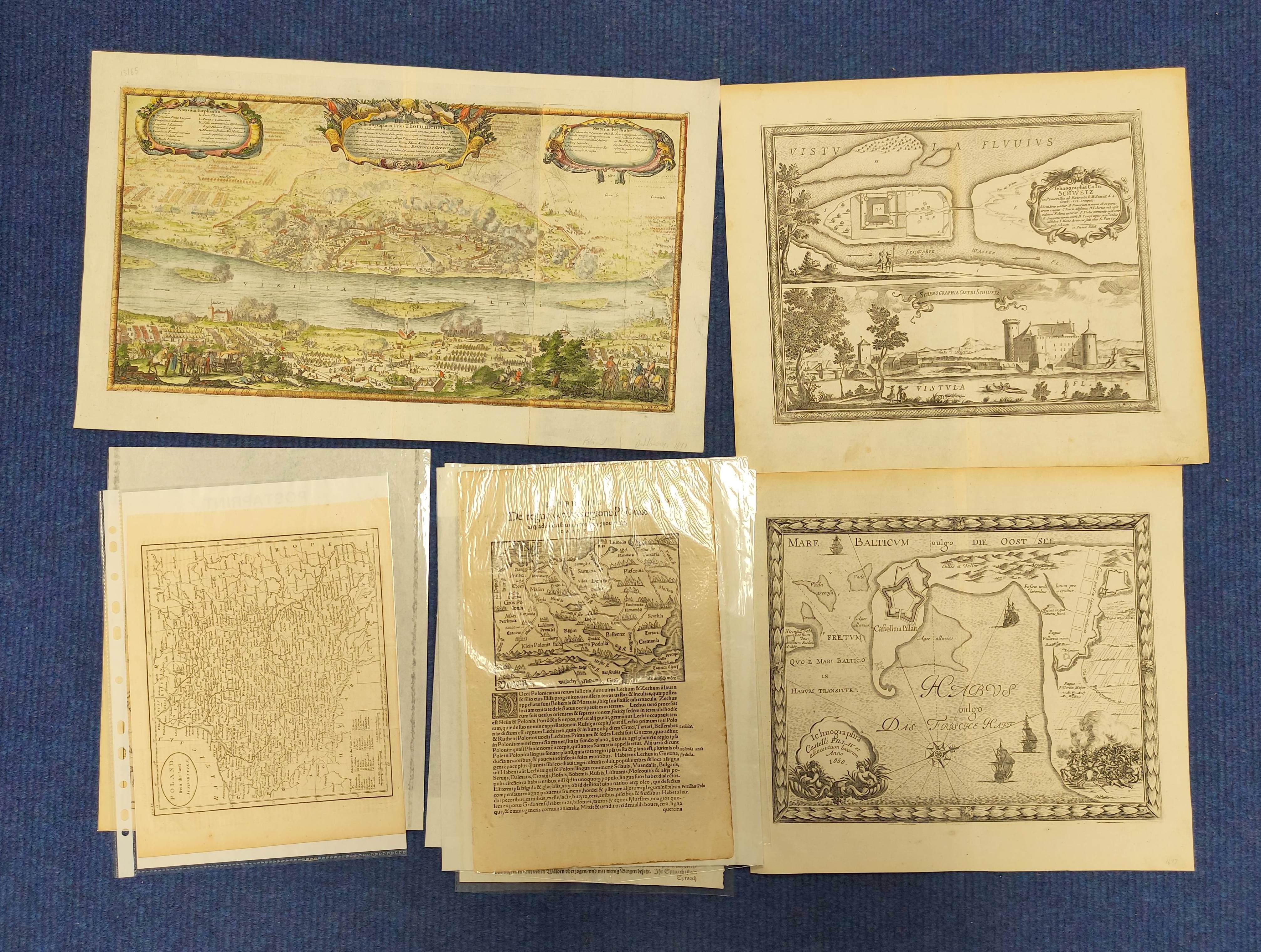 (DAHLBERG E. J.)Ichnographia Castri Schwetz & Ichnographia Castelli Pillau. 2 17th cent.