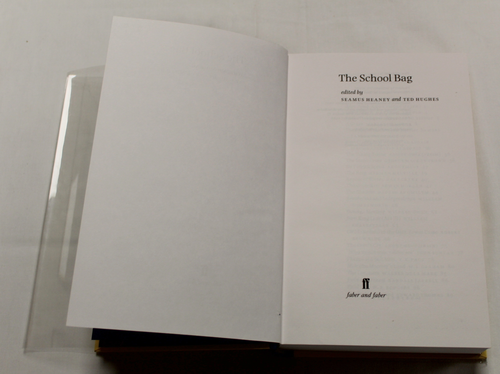 HEANEY SEAMUS. The School Bag. Ltd. ed. 61/300 signed by Heaney & Ted Hughes. Orig. blue & yellow - Image 26 of 36