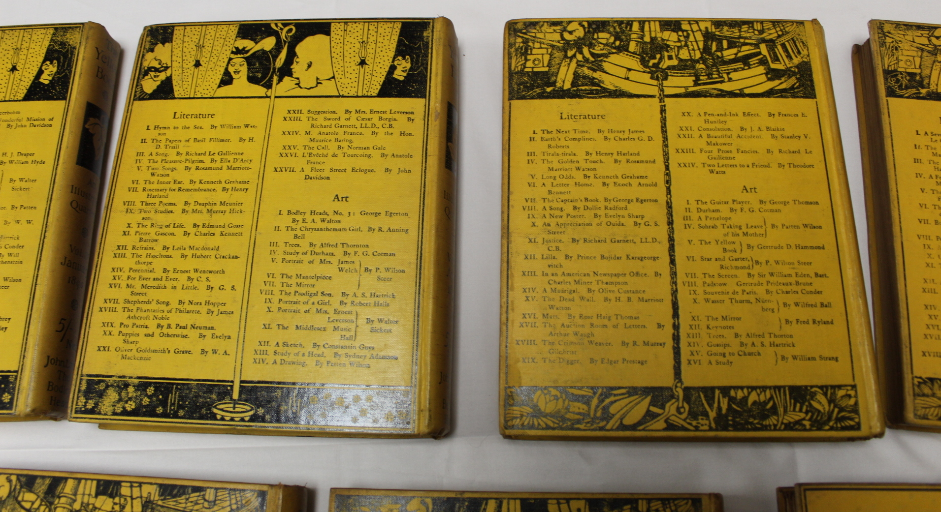 THE YELLOW BOOK.An Illustrated Quarterly. A set of 13 vols., many fine illus. Small quarto. - Image 38 of 45