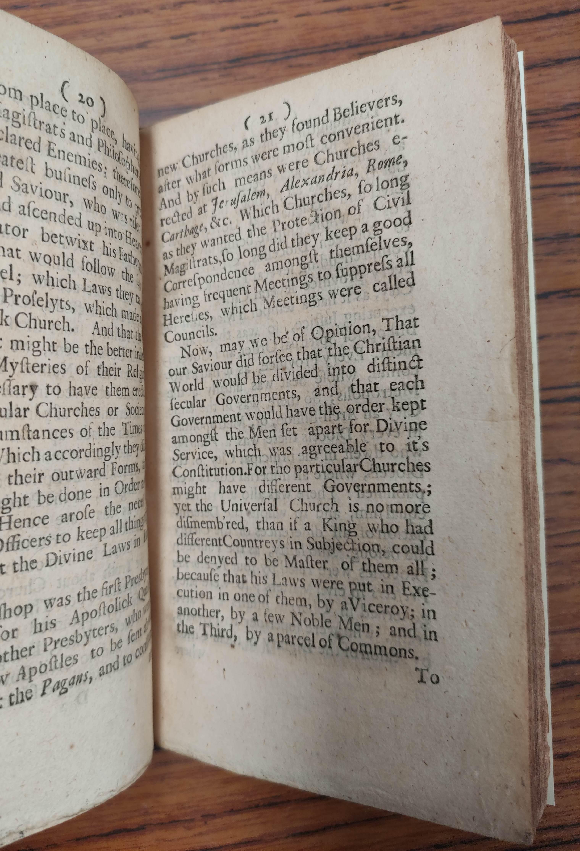 (SETON WILLIAM). The Interest of Scotland in Three Essays. 114pp. Rebound qtr. calf, marbled - Image 5 of 5