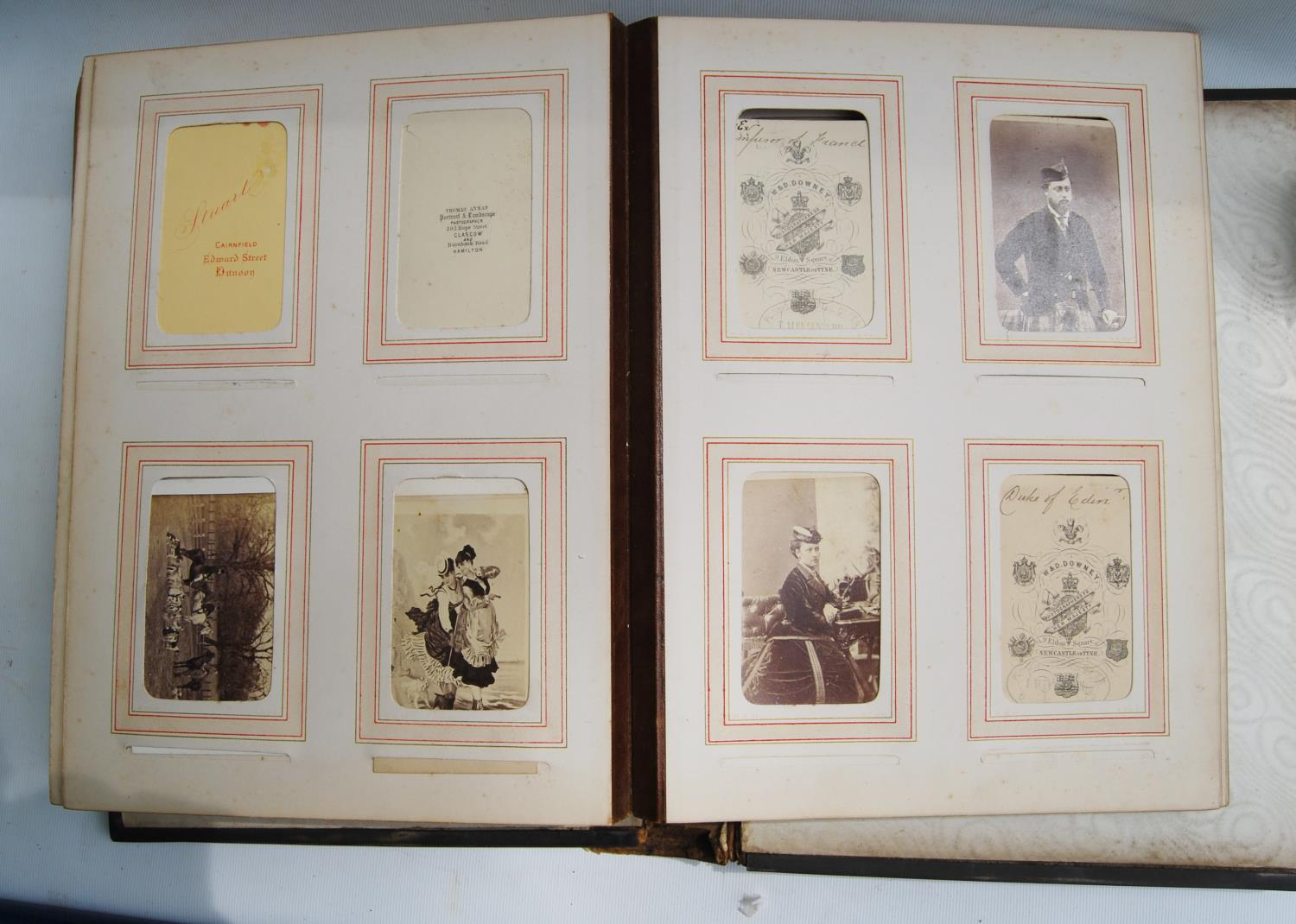 Victorian photograph album belong to Harden Burnley, signed 1870, comprising of royalty, officers - Image 10 of 10