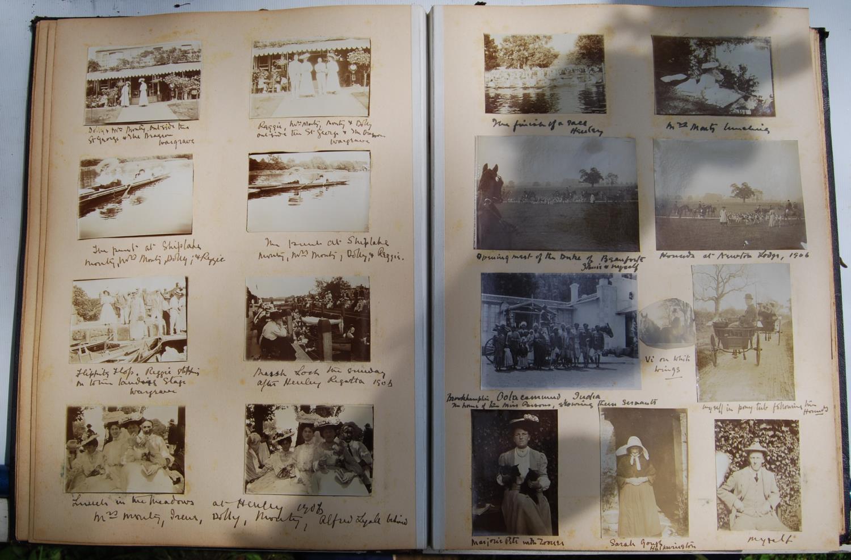 Fine Edwardian photograph album, c. 1907, relating to the Pitt family comprising Henley Regatta, - Image 6 of 22