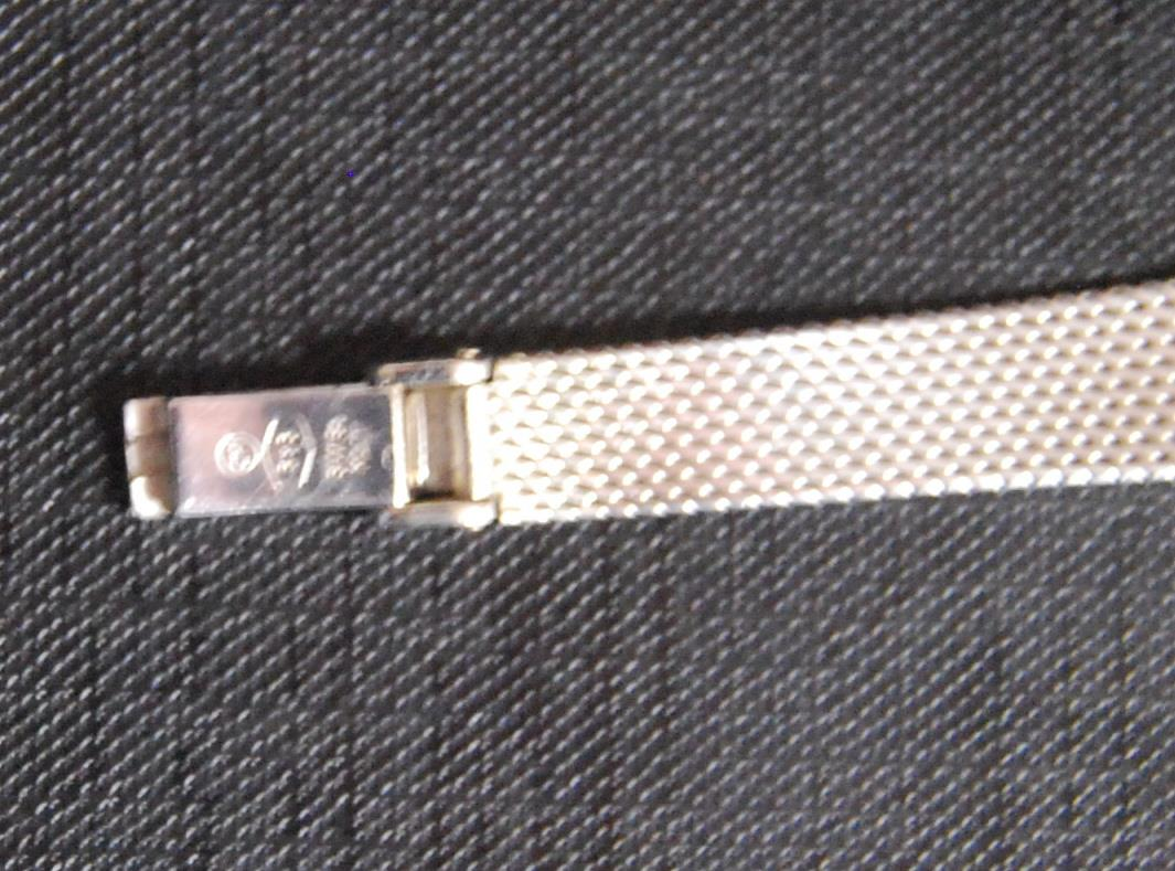 Lady's 14k white gold Tissot Saphir cocktail wristwatch, together with an Omega Genève - Image 4 of 4