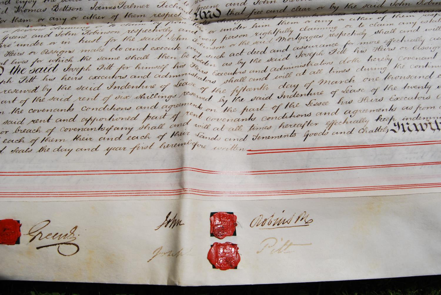 19th century and other vellum and paper deeds relating to Lichfield, Dam Street, predominantly - Image 12 of 12