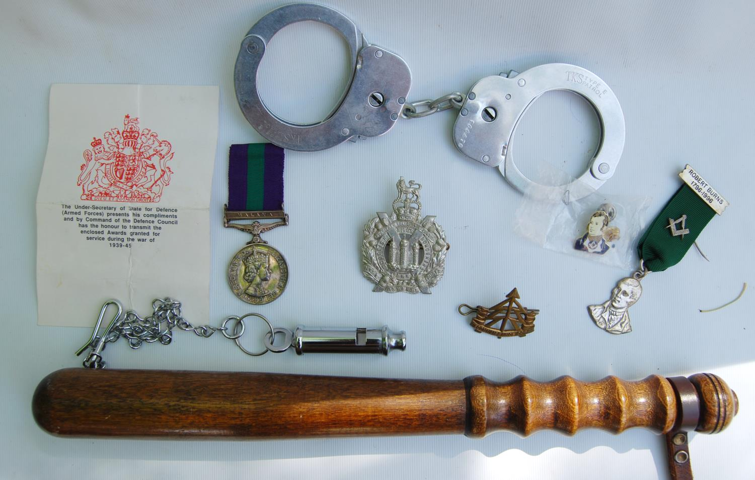 Elizabeth II General Service medal with Malaya bar for Private J Kennan, King's Own Scottish