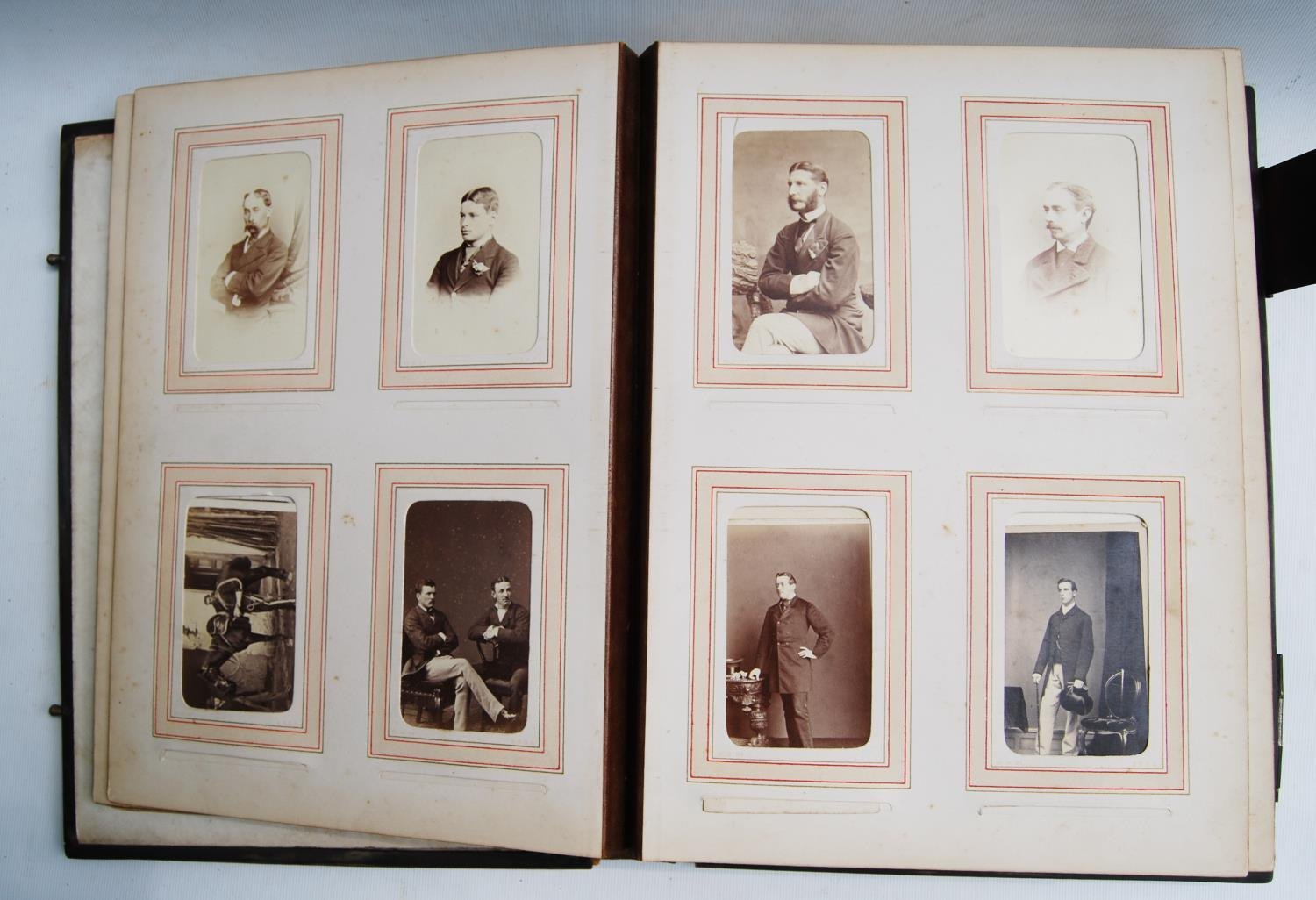 Victorian photograph album belong to Harden Burnley, signed 1870, comprising of royalty, officers