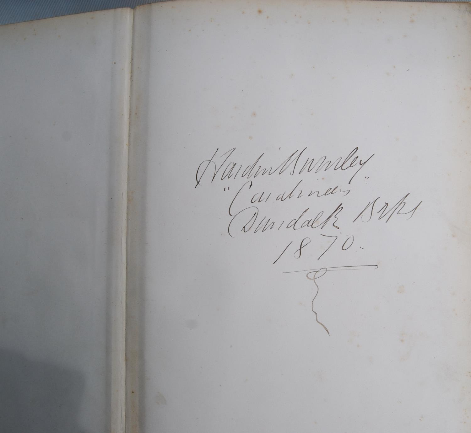 Victorian photograph album belong to Harden Burnley, signed 1870, comprising of royalty, officers - Image 2 of 10