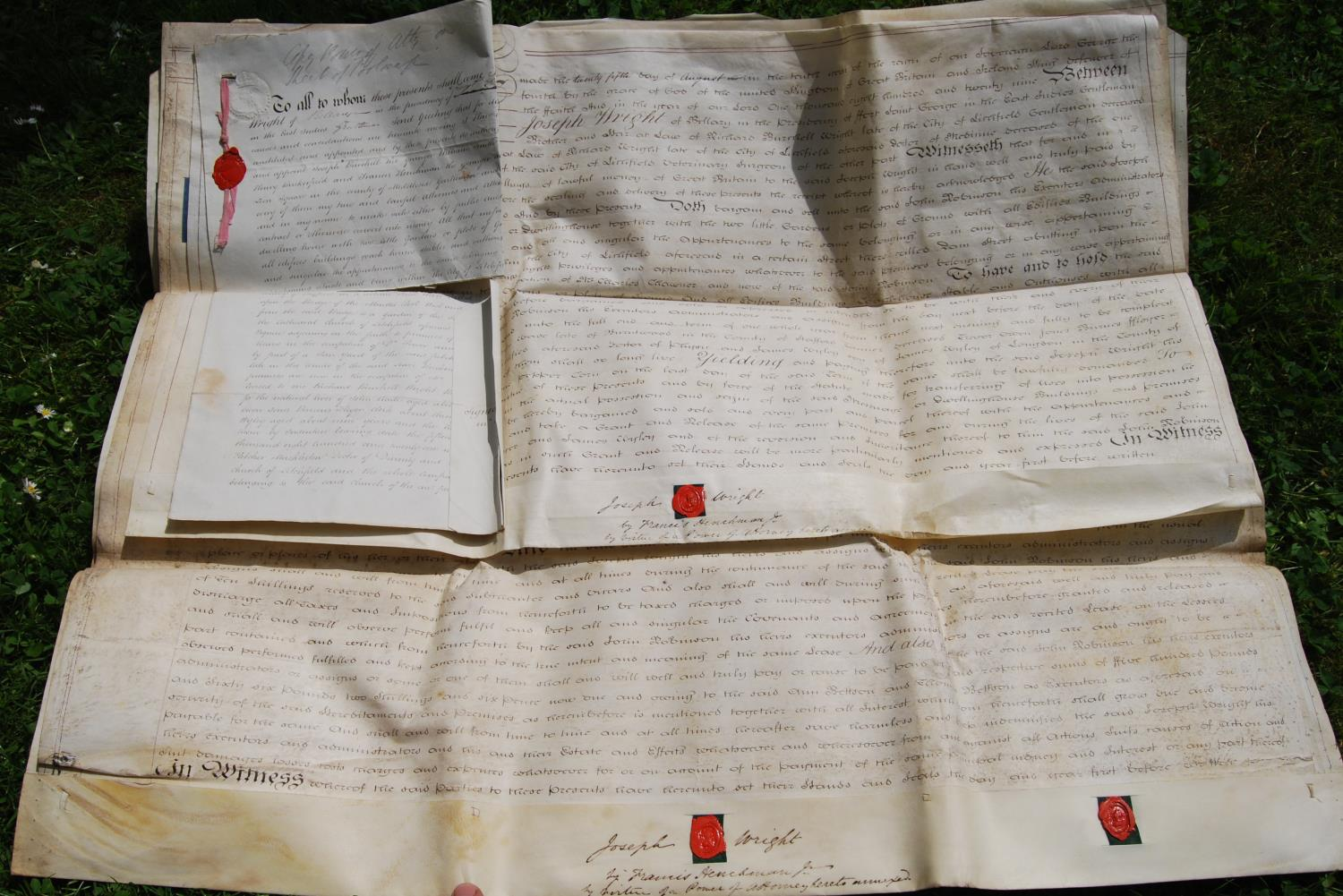 19th century and other vellum and paper deeds relating to Lichfield, Dam Street, predominantly - Image 9 of 12