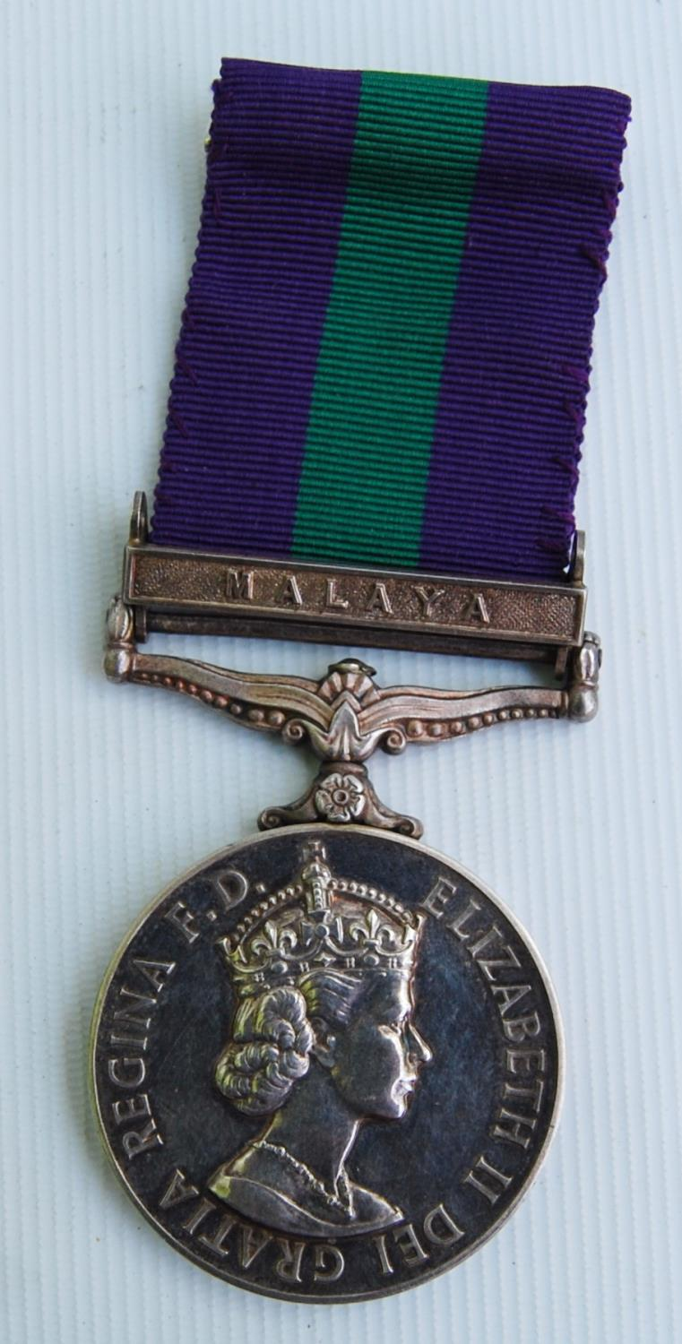 Elizabeth II General Service medal with Malaya bar for Private J Kennan, King's Own Scottish - Image 3 of 3