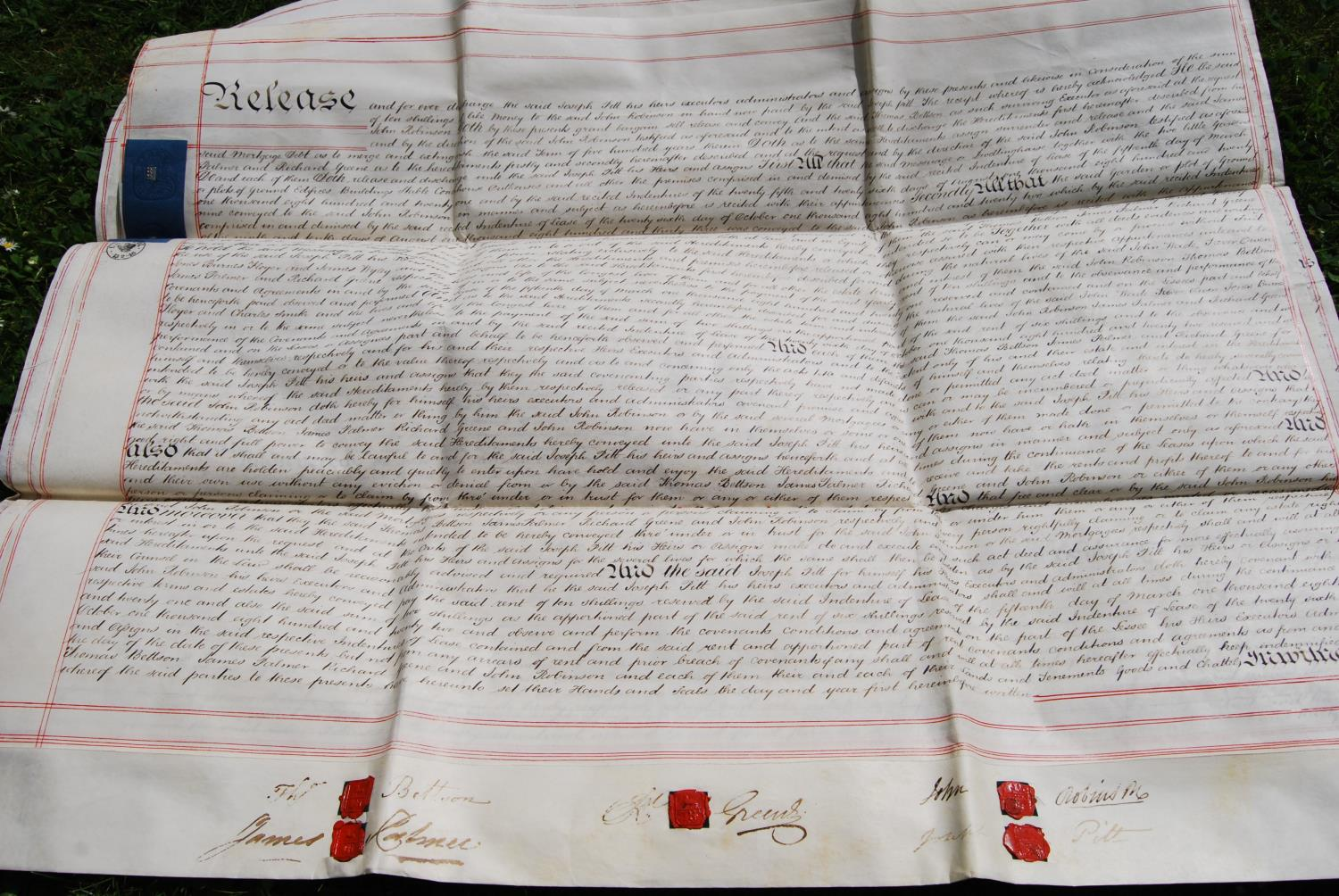 19th century and other vellum and paper deeds relating to Lichfield, Dam Street, predominantly - Image 11 of 12